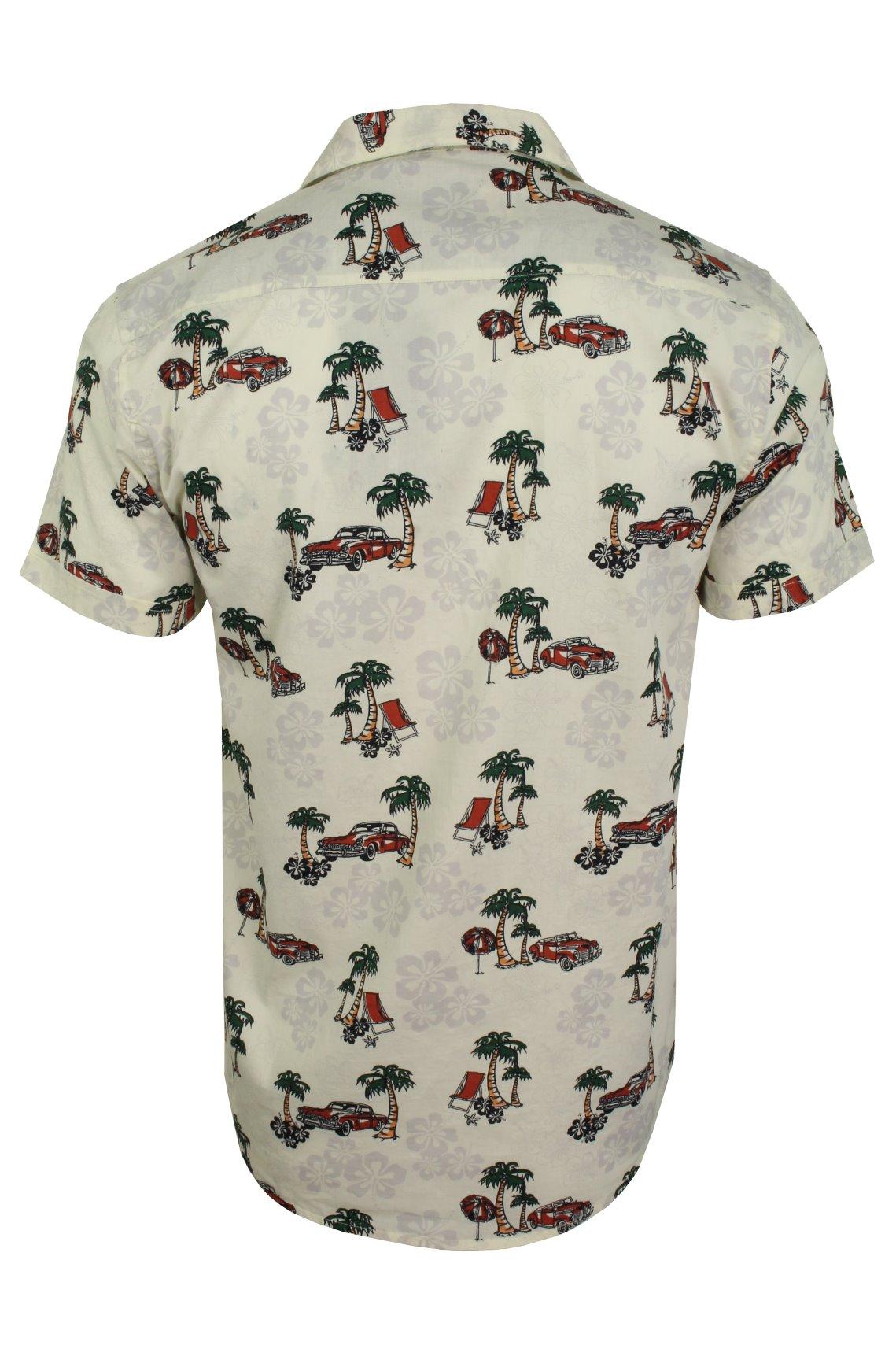 Mens-Brave-Soul-Hawaiian-Shirt-Short-Sleeved thumbnail 5