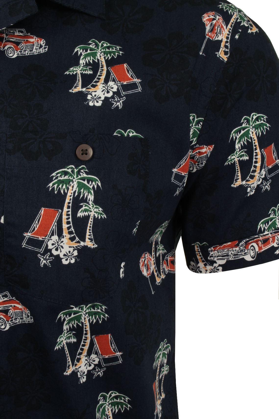 Mens-Brave-Soul-Hawaiian-Shirt-Short-Sleeved thumbnail 7