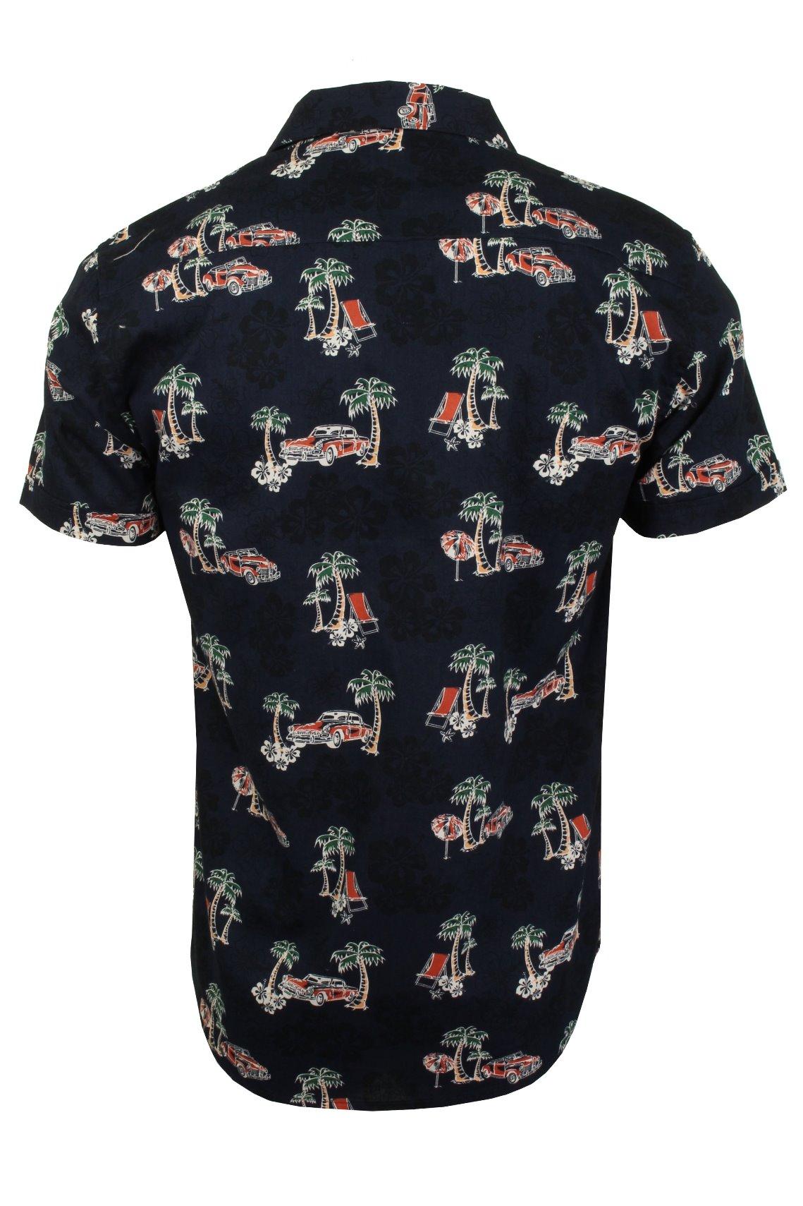 Mens-Brave-Soul-Hawaiian-Shirt-Short-Sleeved thumbnail 8