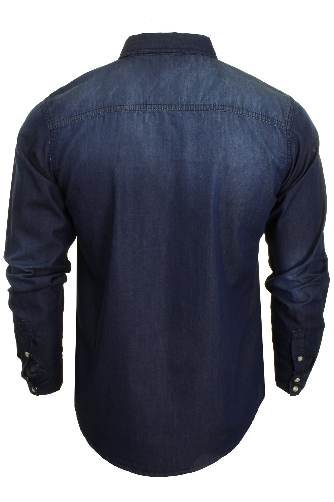Brave-Soul-Mens-Long-Sleeved-Denim-Shirt thumbnail 8