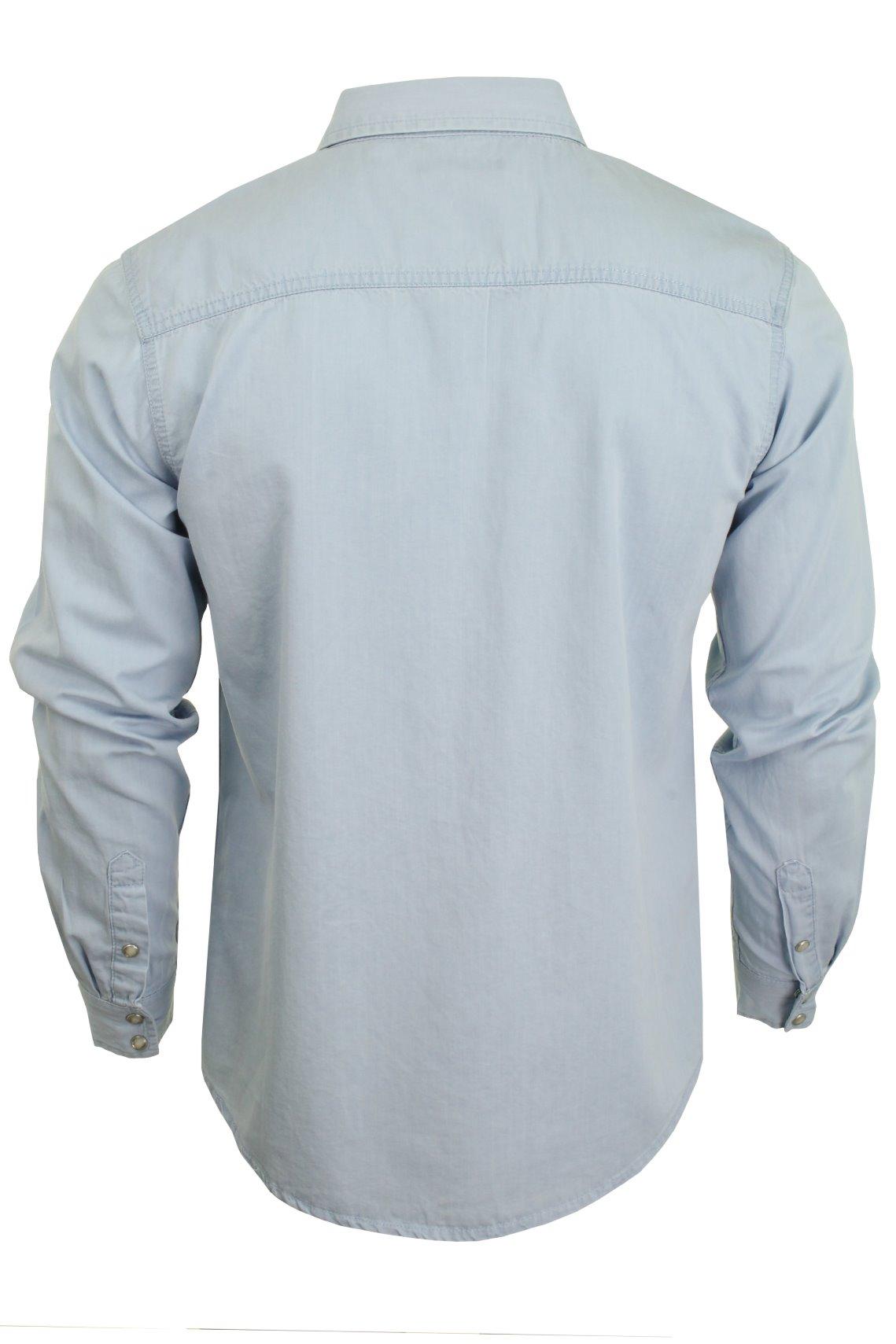 Brave-Soul-Mens-Long-Sleeved-Denim-Shirt thumbnail 5