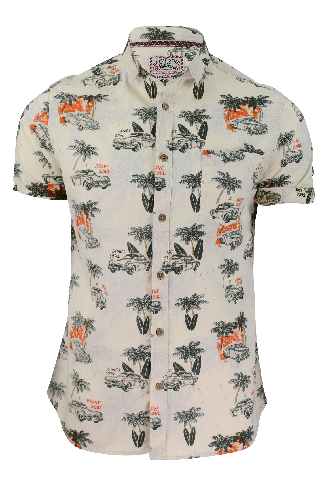 1e2d4cfc99 Camisa Para Hombre De Brave Soul  Kapua  Hawaiana Manga Corta ...