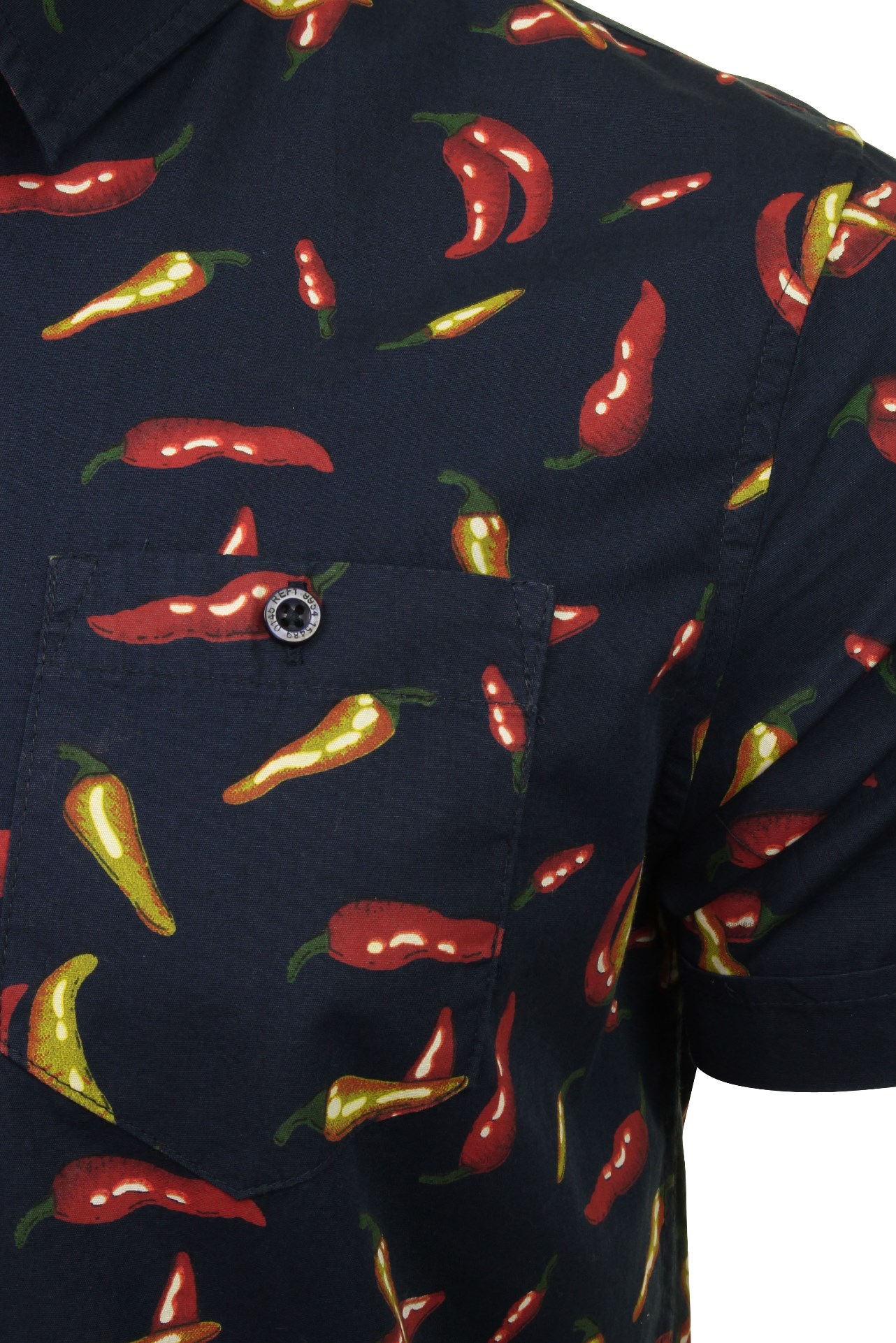 Mens-Brave-Soul-039-Pepper-039-Print-Shirt thumbnail 4