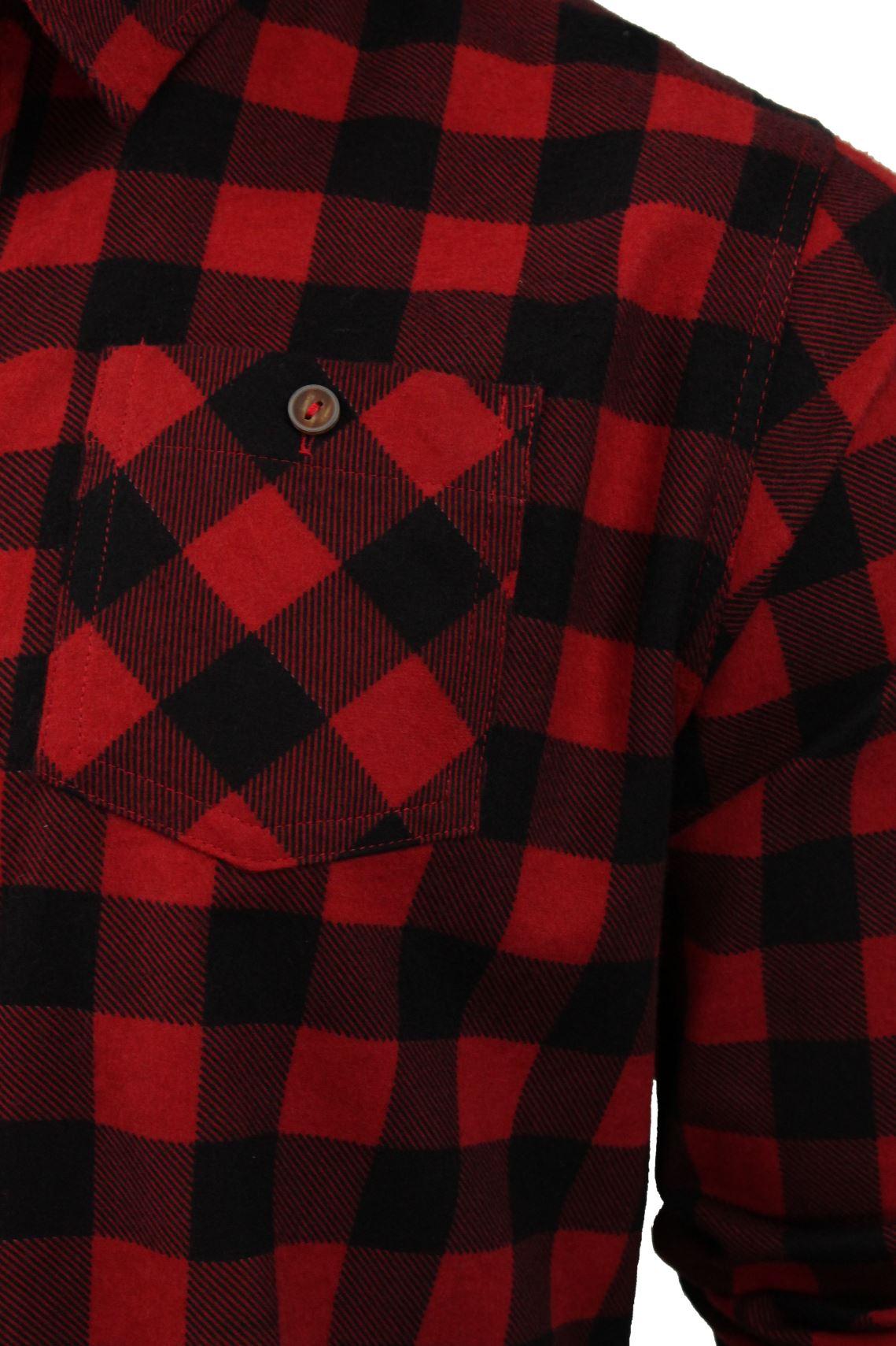 Verificacion-de-franela-de-algodon-cepillado-alma-valiente-camisa-de-mangas-largas-De-Jack miniatura 8