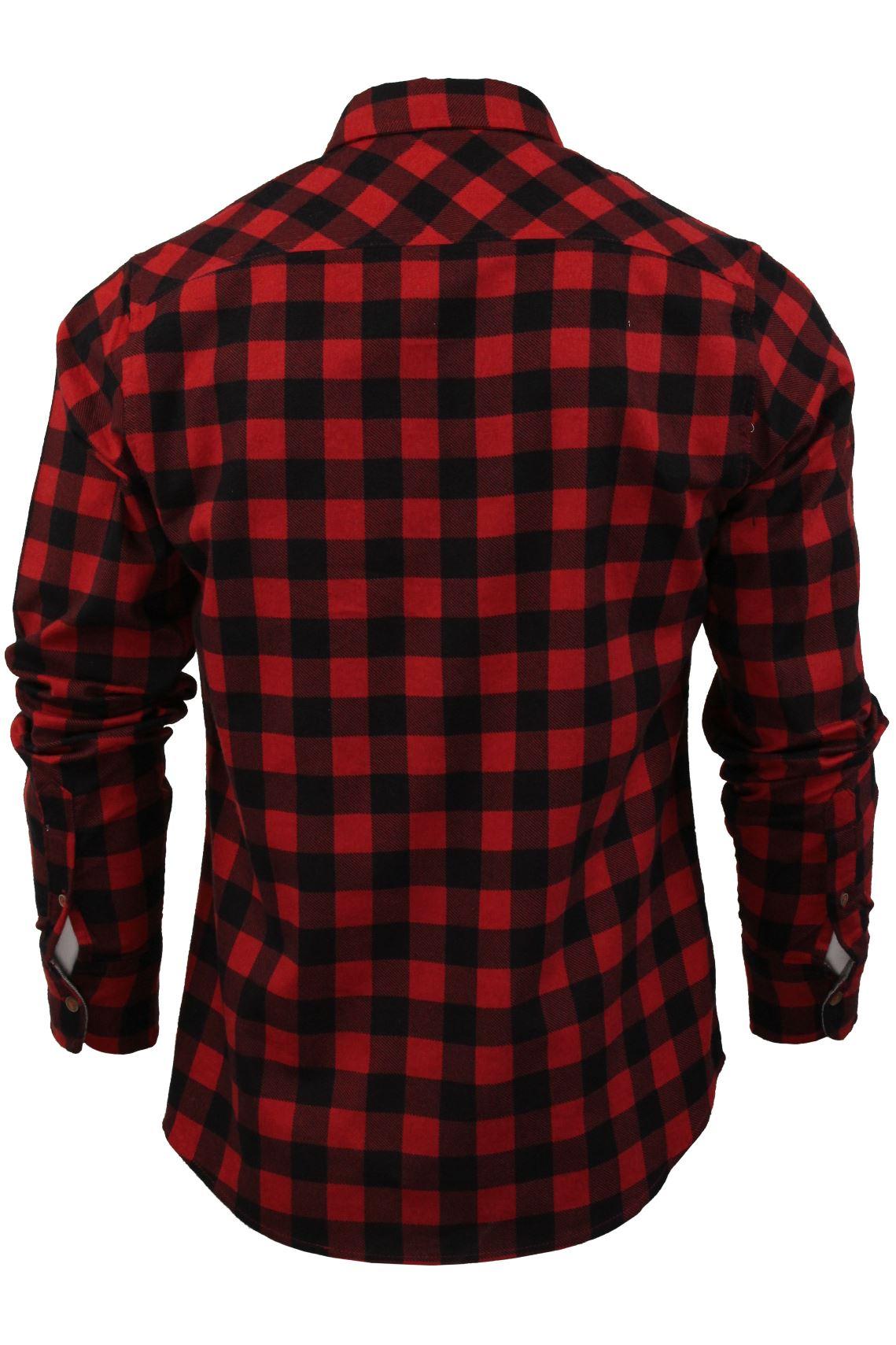 Verificacion-de-franela-de-algodon-cepillado-alma-valiente-camisa-de-mangas-largas-De-Jack miniatura 9