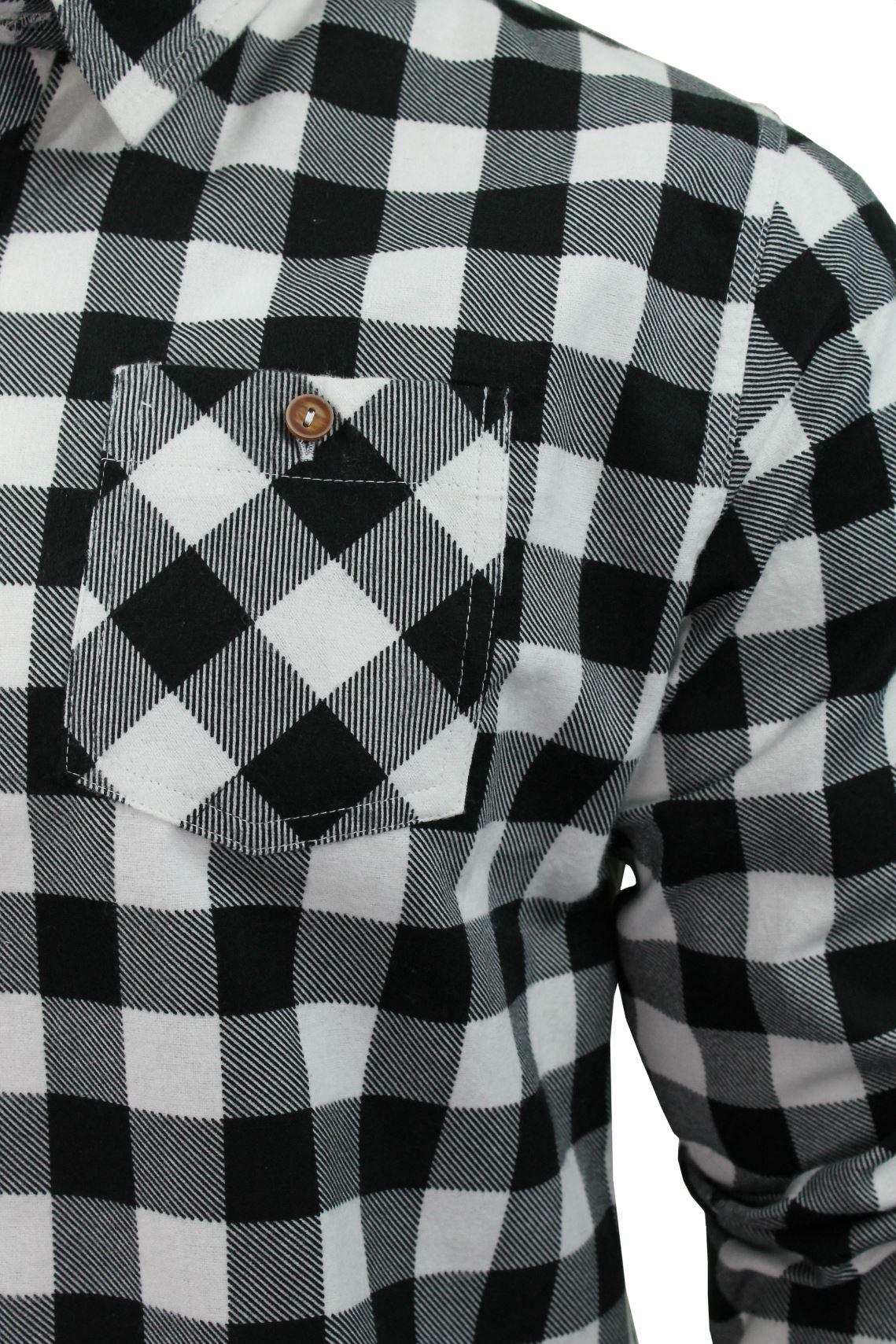 Brave-Soul-Brushed-Flannel-Check-Cotton-Jack-Shirt-Long-Sleeved thumbnail 11