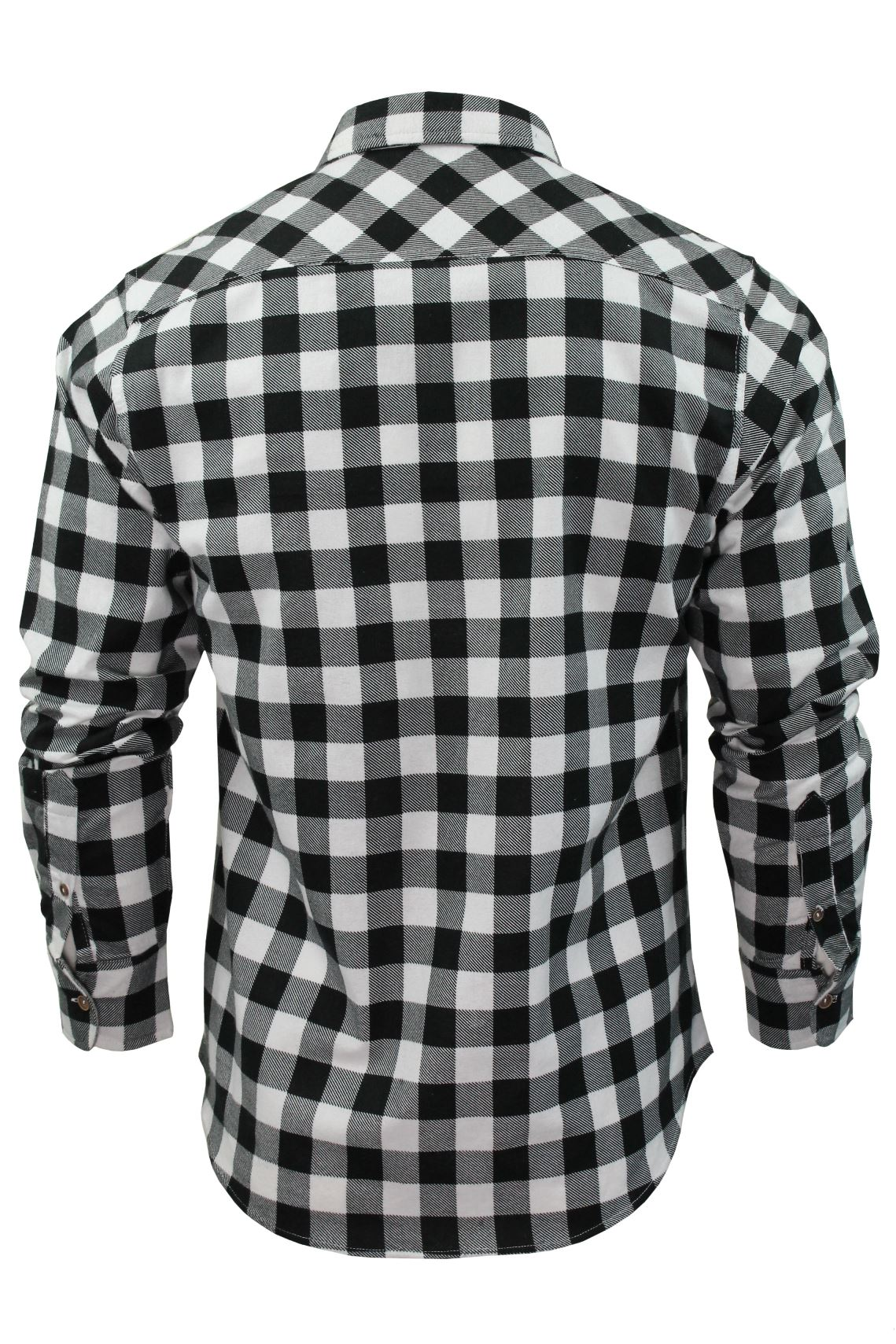Verificacion-de-franela-de-algodon-cepillado-alma-valiente-camisa-de-mangas-largas-De-Jack miniatura 12