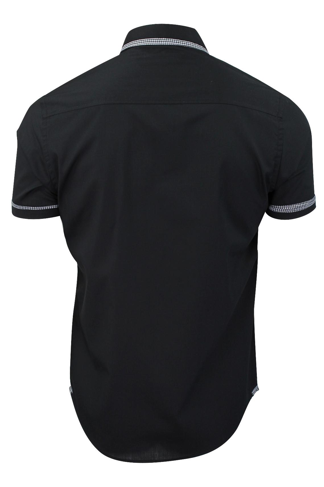 Mens-Shirt-by-Brave-Soul-039-Colvin-039-Gingham-Trim-Short-Sleeved thumbnail 4