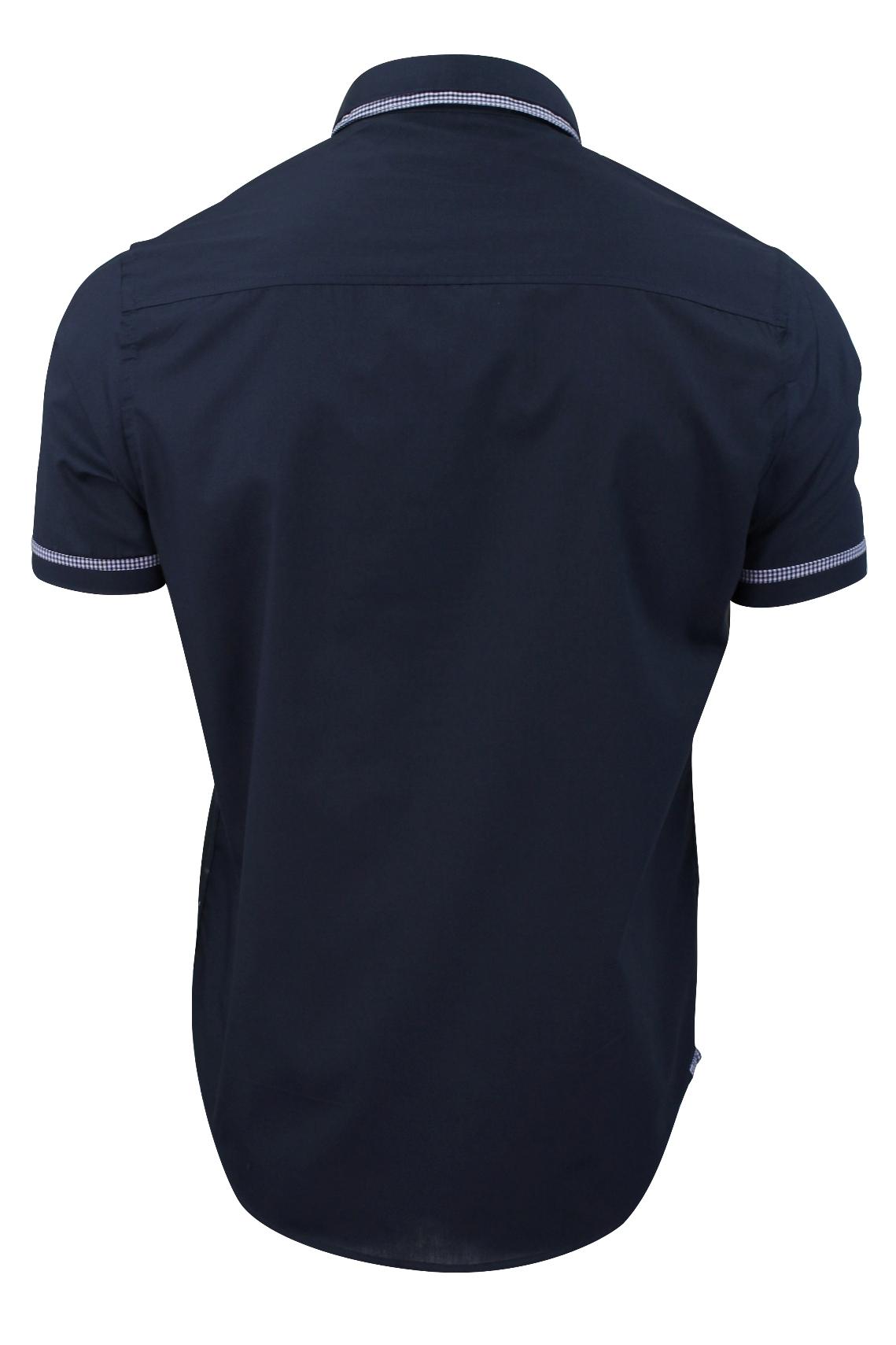Mens-Shirt-by-Brave-Soul-039-Colvin-039-Gingham-Trim-Short-Sleeved thumbnail 7