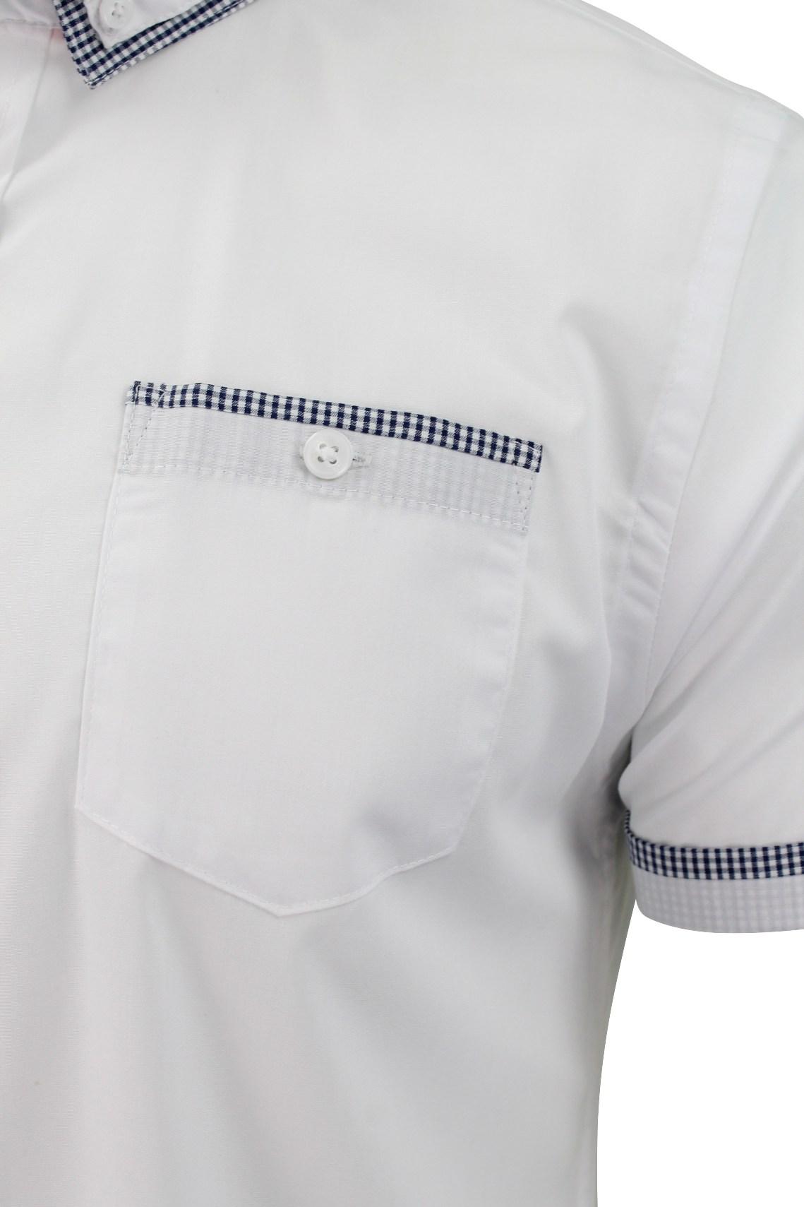 Mens-Shirt-by-Brave-Soul-039-Colvin-039-Gingham-Trim-Short-Sleeved thumbnail 9