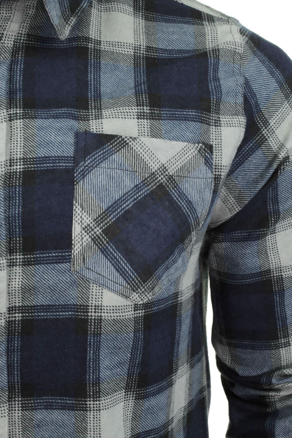 Brave-Soul-Brushed-Flannel-Check-Cotton-Jack-Shirt-Long-Sleeved thumbnail 14