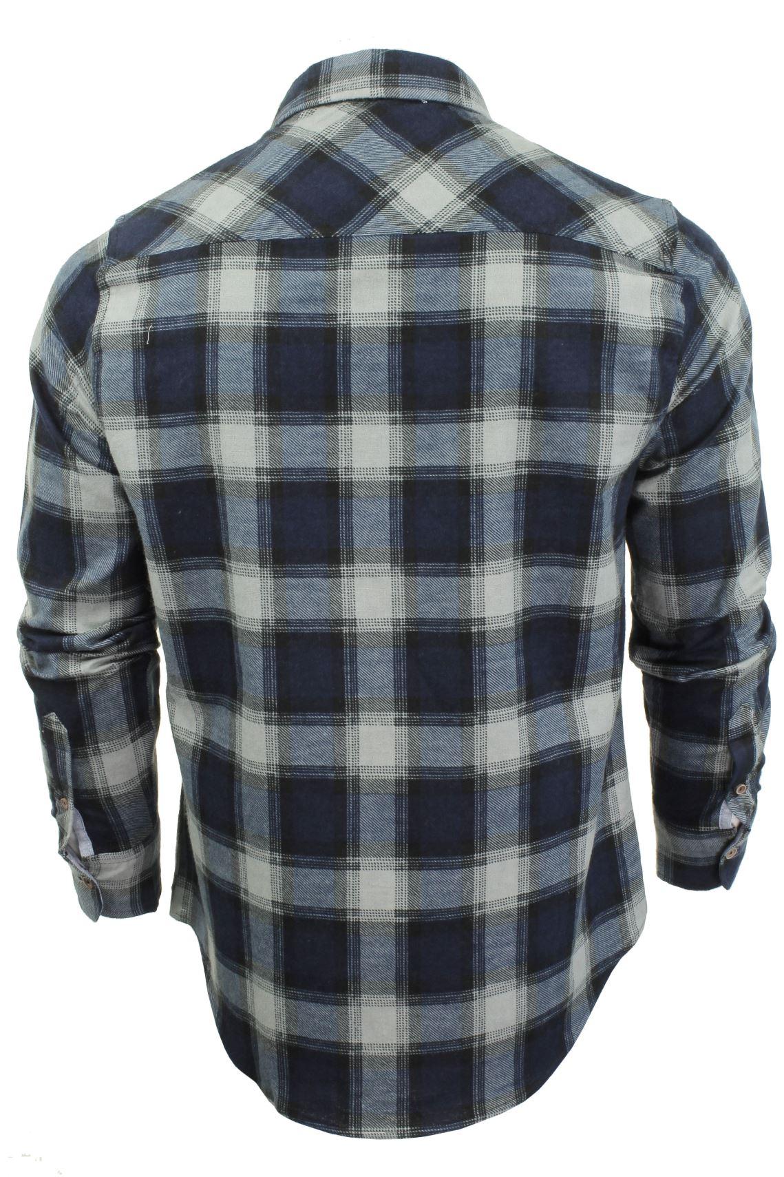 Verificacion-de-franela-de-algodon-cepillado-alma-valiente-camisa-de-mangas-largas-De-Jack miniatura 15