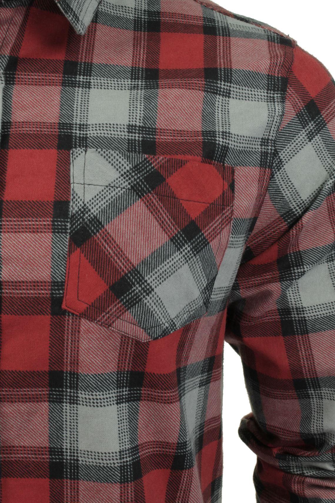 Verificacion-de-franela-de-algodon-cepillado-alma-valiente-camisa-de-mangas-largas-De-Jack miniatura 17