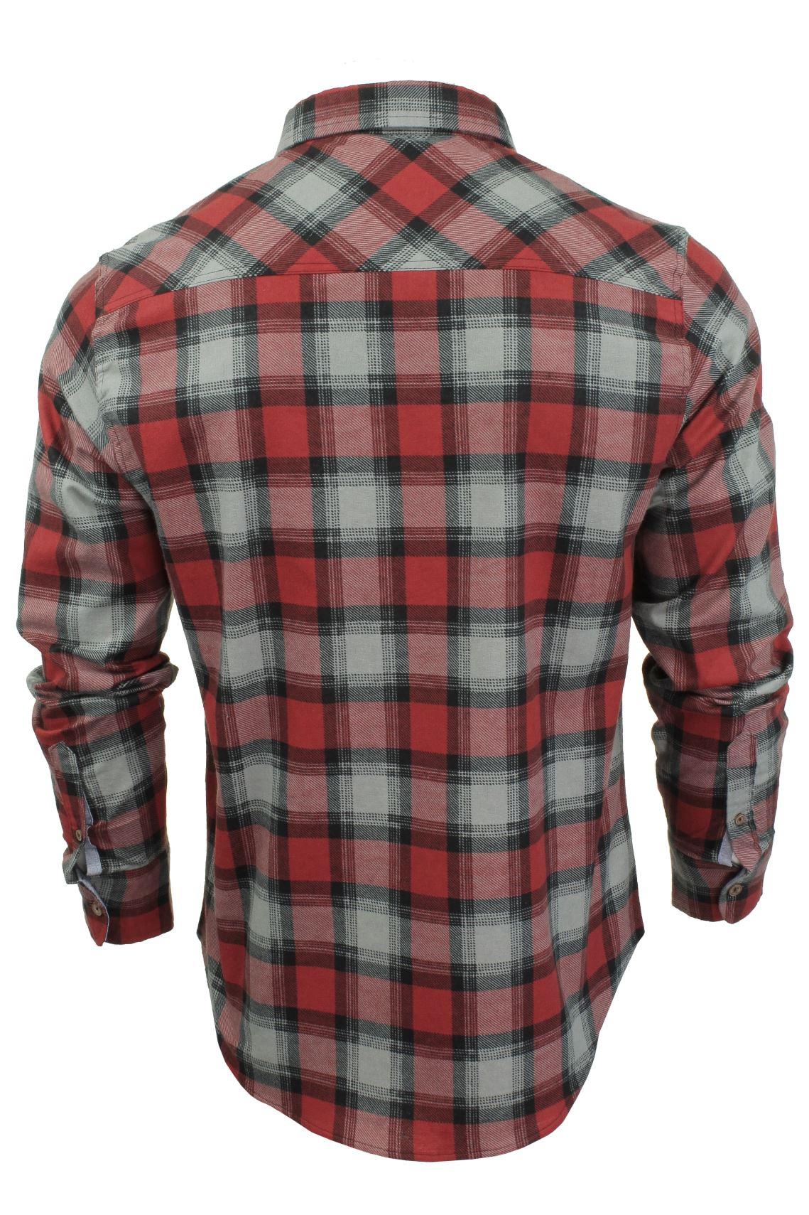 Verificacion-de-franela-de-algodon-cepillado-alma-valiente-camisa-de-mangas-largas-De-Jack miniatura 18