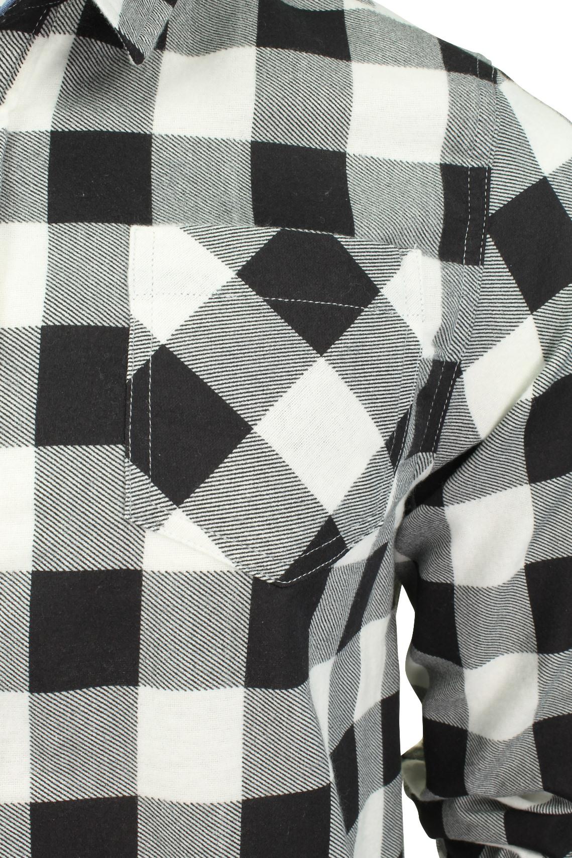 Verificacion-de-franela-de-algodon-cepillado-alma-valiente-camisa-de-mangas-largas-De-Jack miniatura 23