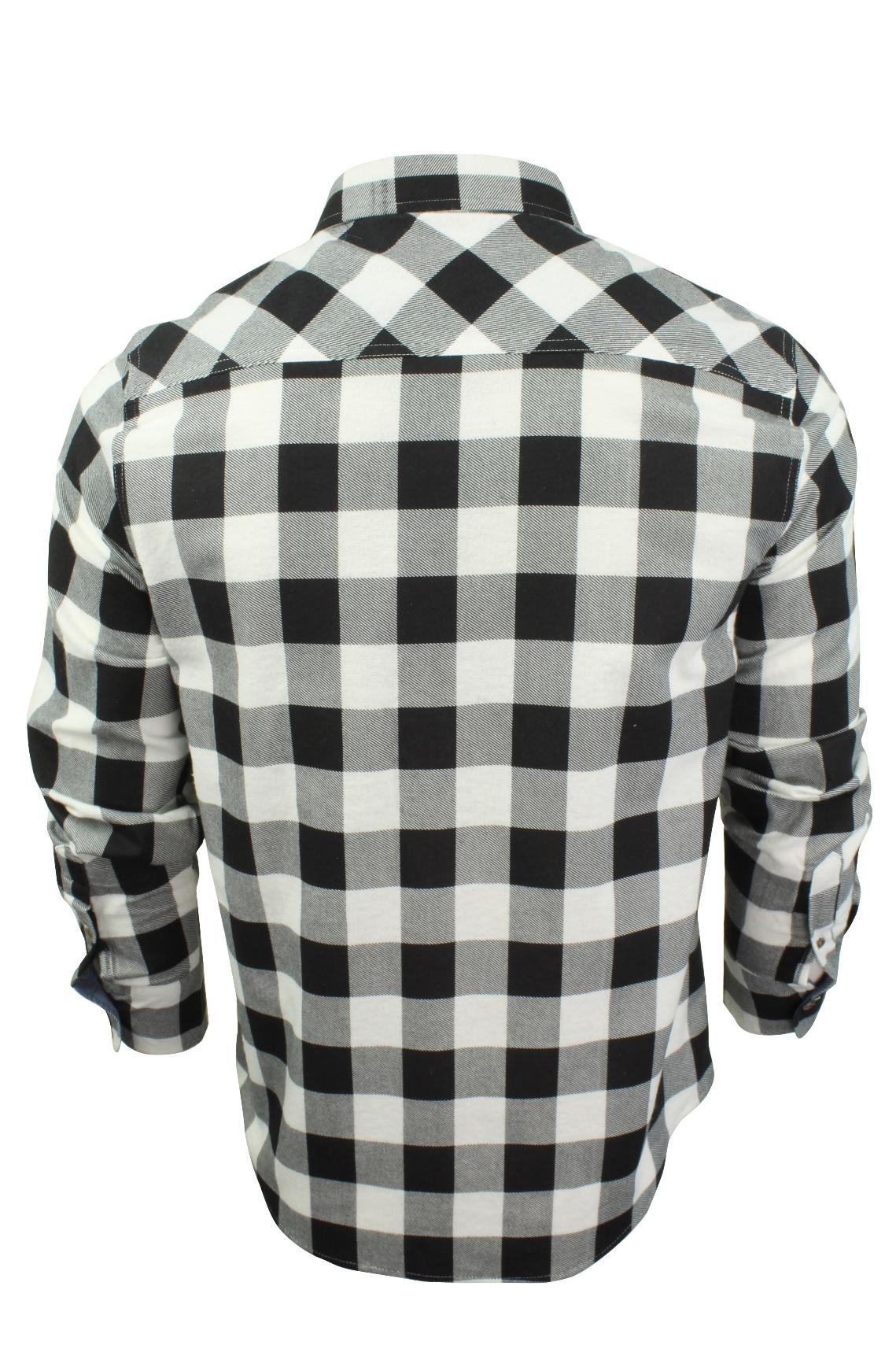 Verificacion-de-franela-de-algodon-cepillado-alma-valiente-camisa-de-mangas-largas-De-Jack miniatura 24