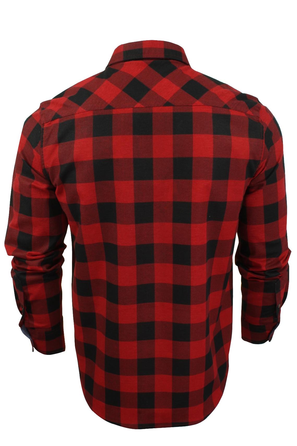 Verificacion-de-franela-de-algodon-cepillado-alma-valiente-camisa-de-mangas-largas-De-Jack miniatura 21