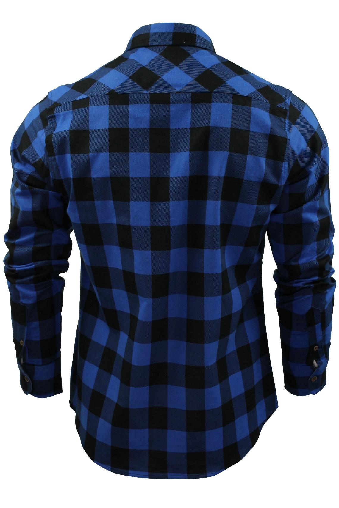 Verificacion-de-franela-de-algodon-cepillado-alma-valiente-camisa-de-mangas-largas-De-Jack miniatura 6