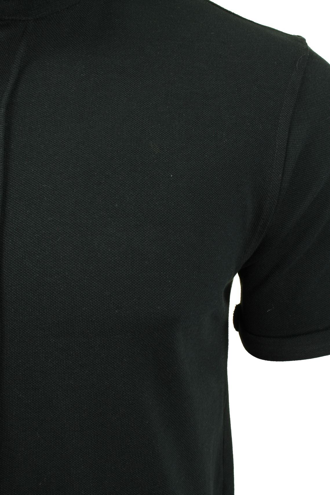 Mens-Grandad-Collar-Pique-Shirt-by-Brave-Soul-039-Joey-039 thumbnail 4