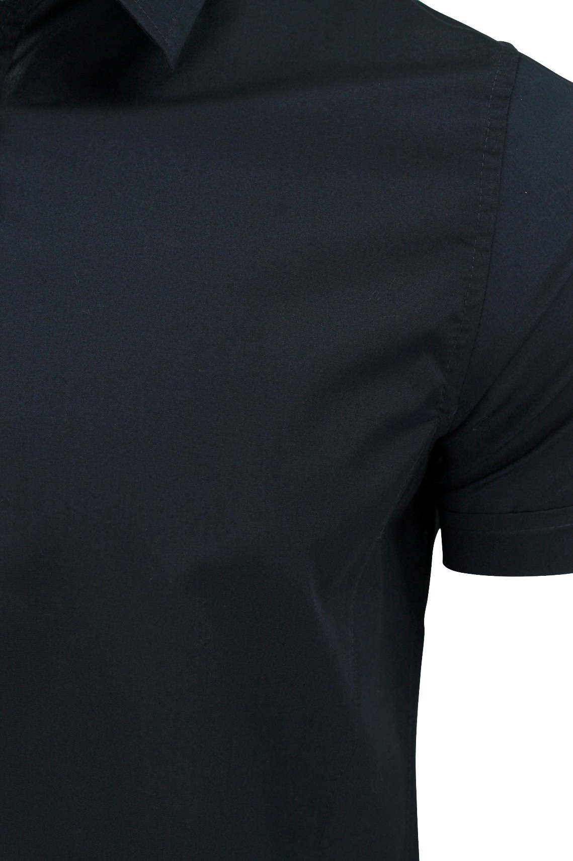 Brave-Soul-Mens-Plain-Shirt-Short-Sleeved-Slim-Fit thumbnail 19