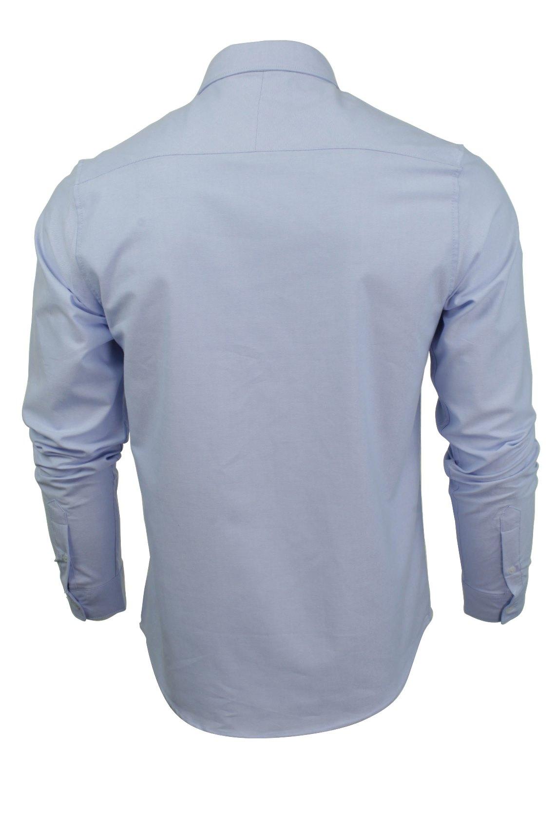 Camicia-da-Uomo-da-Brave-Soul-034-POMPEI-034-A-Maniche-Lunghe-Oxford miniatura 5