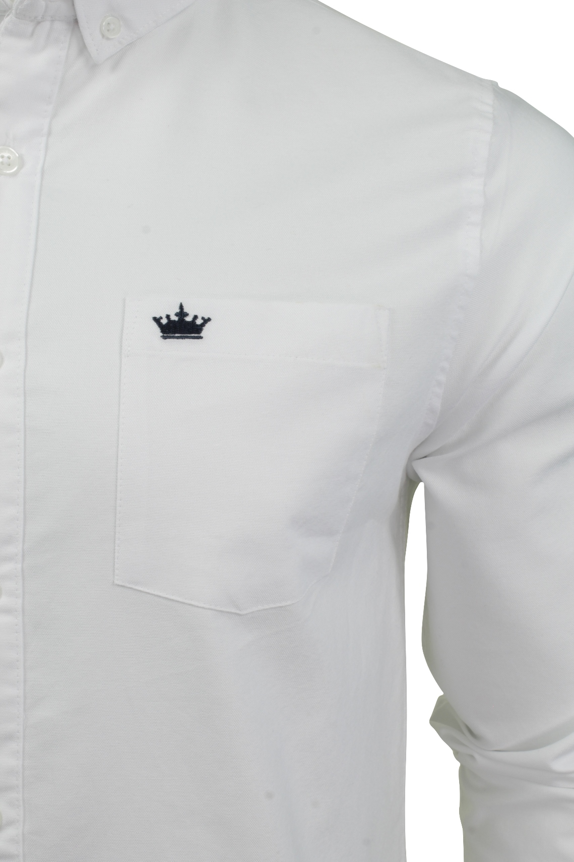 Camicia-da-Uomo-da-Brave-Soul-034-POMPEI-034-A-Maniche-Lunghe-Oxford miniatura 7