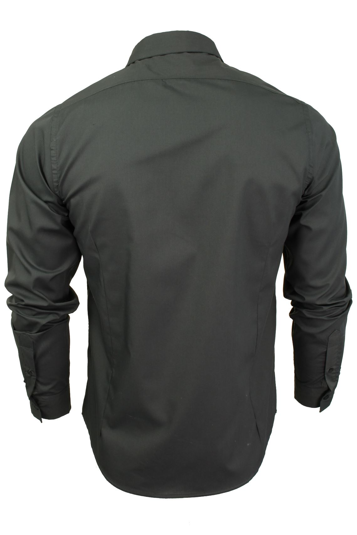 Mens-Plain-Shirt-by-Brave-Soul-039-Tudor-039-Long-Sleeved thumbnail 8
