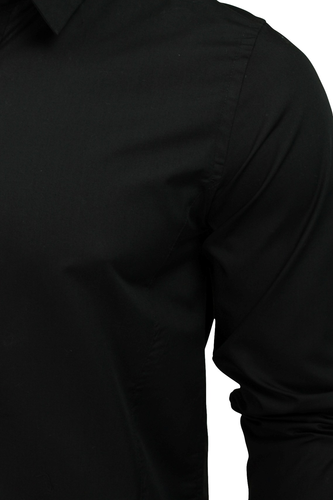 Mens-Plain-Shirt-by-Brave-Soul-039-Tudor-039-Long-Sleeved thumbnail 4