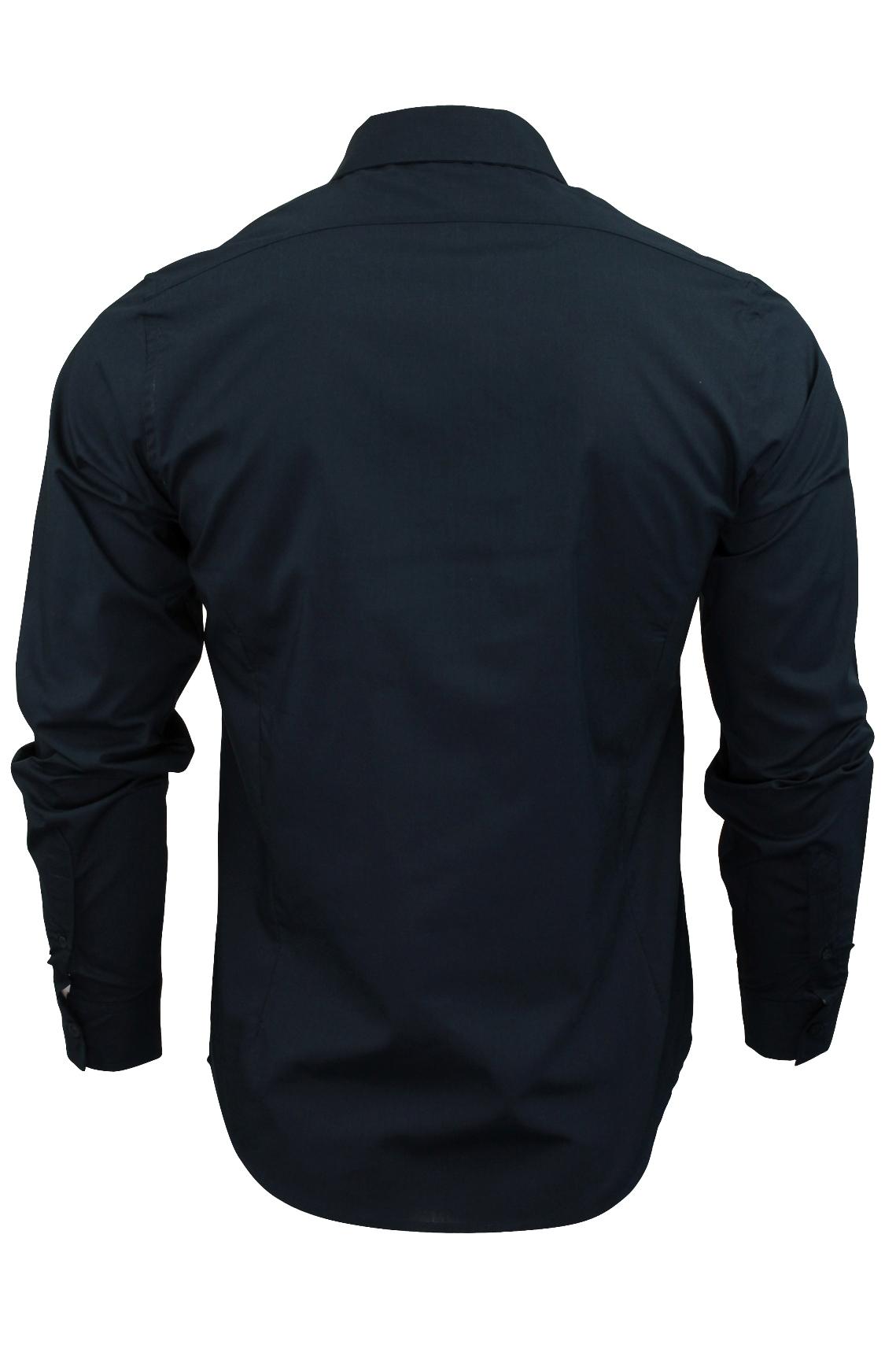 Mens-Plain-Shirt-by-Brave-Soul-039-Tudor-039-Long-Sleeved thumbnail 11