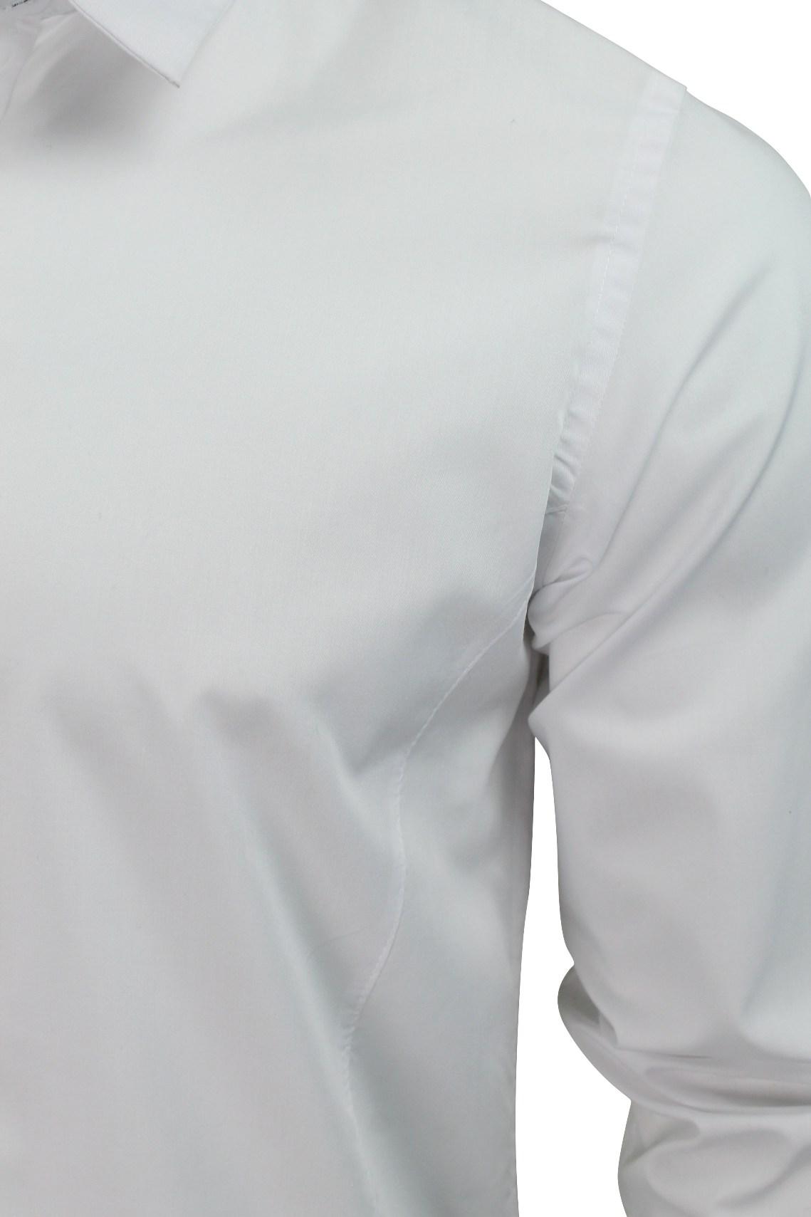 Mens-Plain-Shirt-by-Brave-Soul-039-Tudor-039-Long-Sleeved thumbnail 13