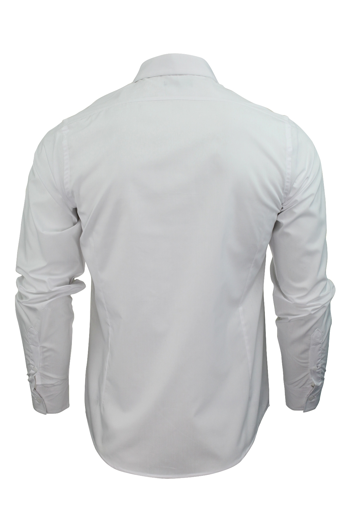 Mens-Plain-Shirt-by-Brave-Soul-039-Tudor-039-Long-Sleeved thumbnail 14