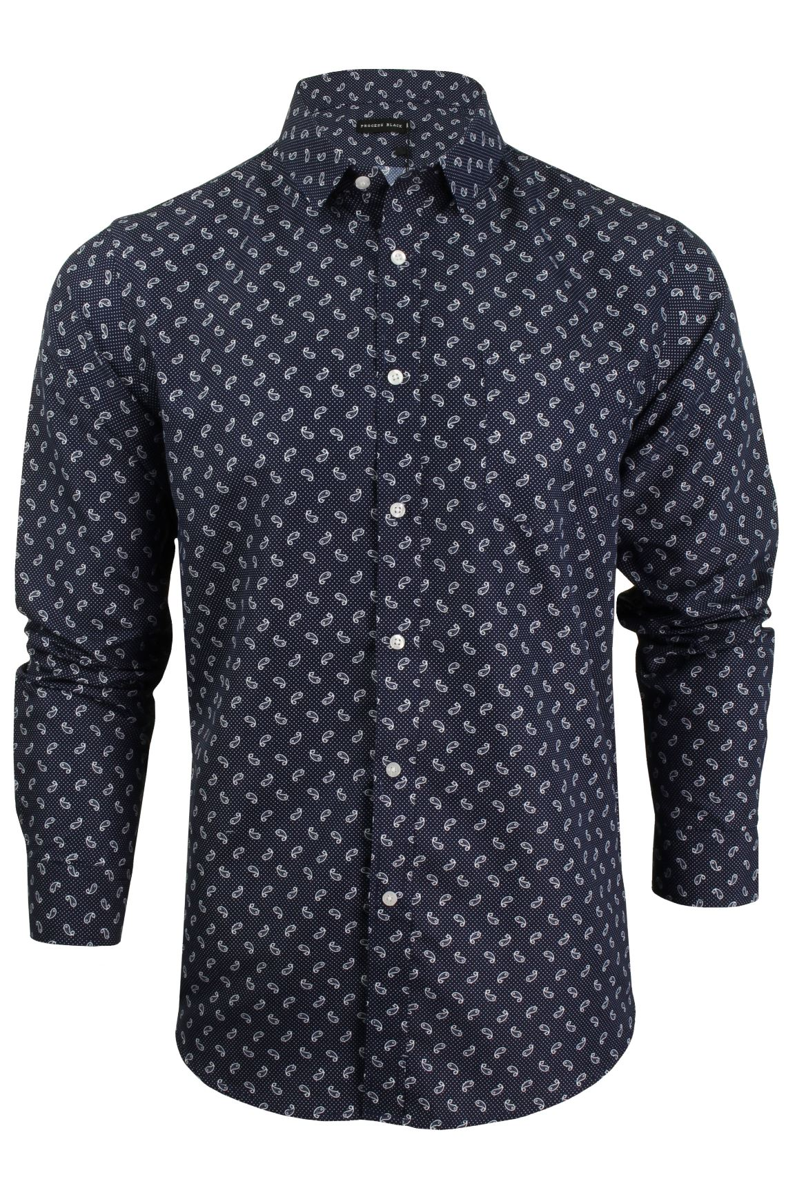 Mens Paisley Print Shirt By Process Black 39 Paisley 39 Long