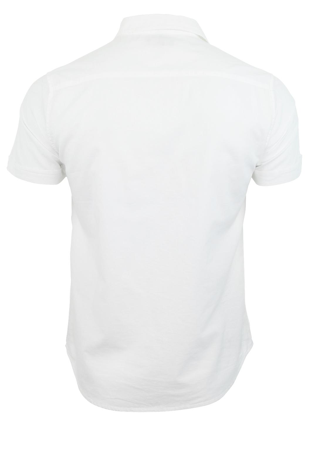 Camisa-De-Hombre-Brave-Soul-Manga-Corta-034-Platon-034-Doble-Bolsillo-De-Pecho