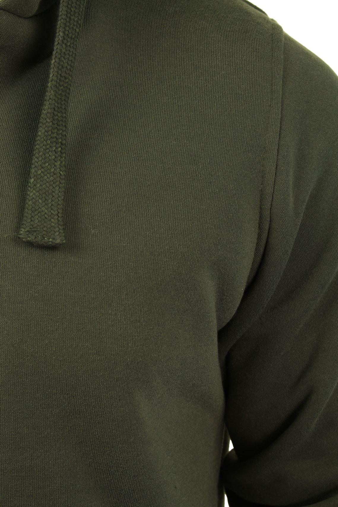 Brave-Soul-Mens-Hooded-Sweatshirt-Jumper-039-Zone-039-Hoodie-Sherpa-Lined thumbnail 13