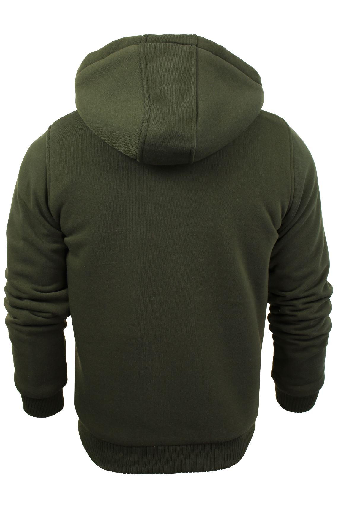 Brave-Soul-Mens-Hooded-Sweatshirt-Jumper-039-Zone-039-Hoodie-Sherpa-Lined thumbnail 14