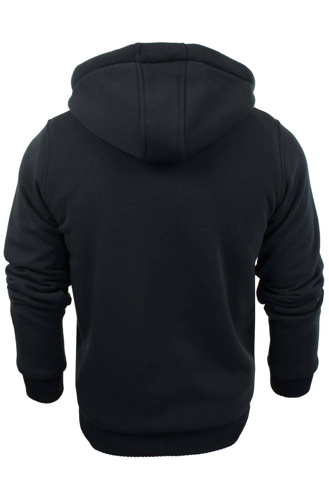 Brave-Soul-Mens-Hooded-Sweatshirt-Jumper-039-Zone-039-Hoodie-Sherpa-Lined thumbnail 8