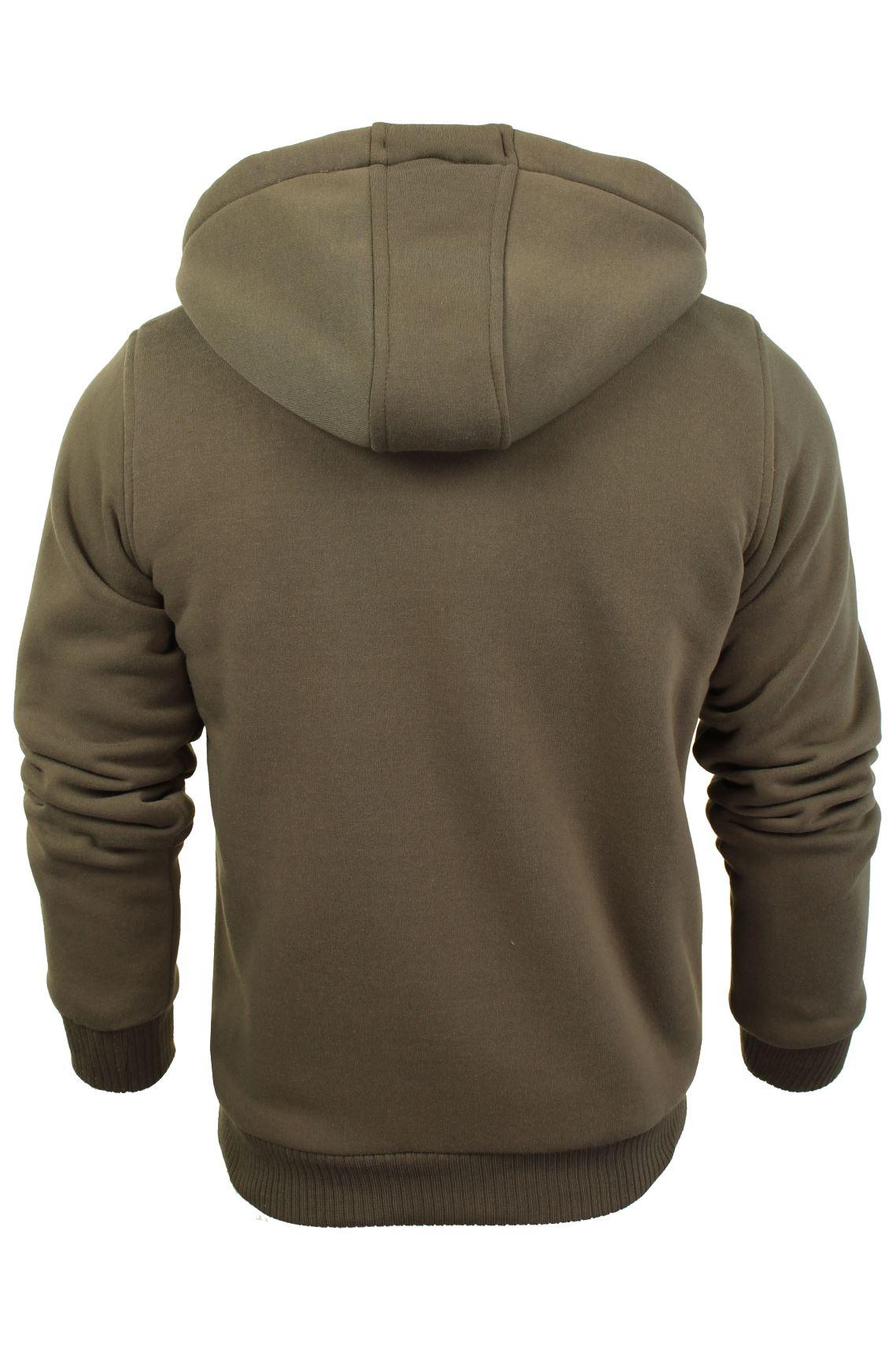 Brave-Soul-Mens-Hooded-Sweatshirt-Jumper-039-Zone-039-Hoodie-Sherpa-Lined thumbnail 17