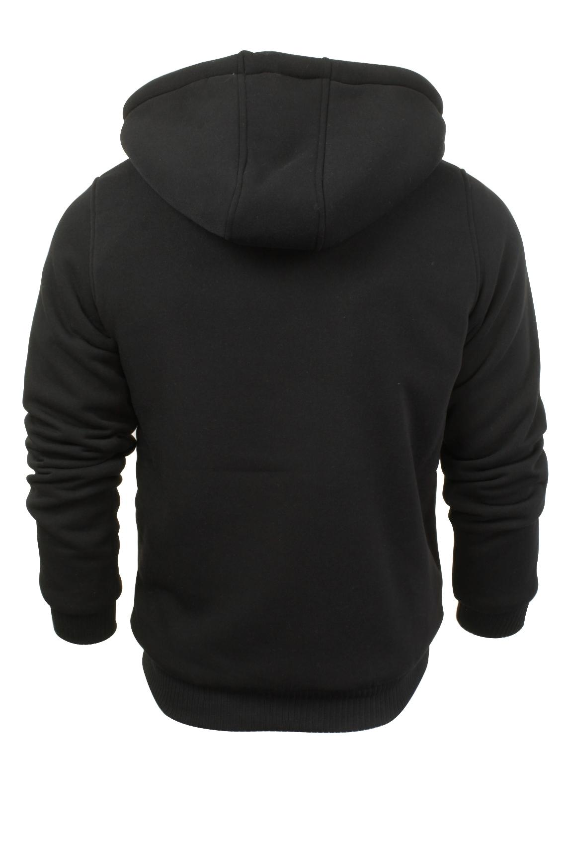 Brave-Soul-Mens-Hooded-Sweatshirt-Jumper-039-Zone-039-Hoodie-Sherpa-Lined thumbnail 19