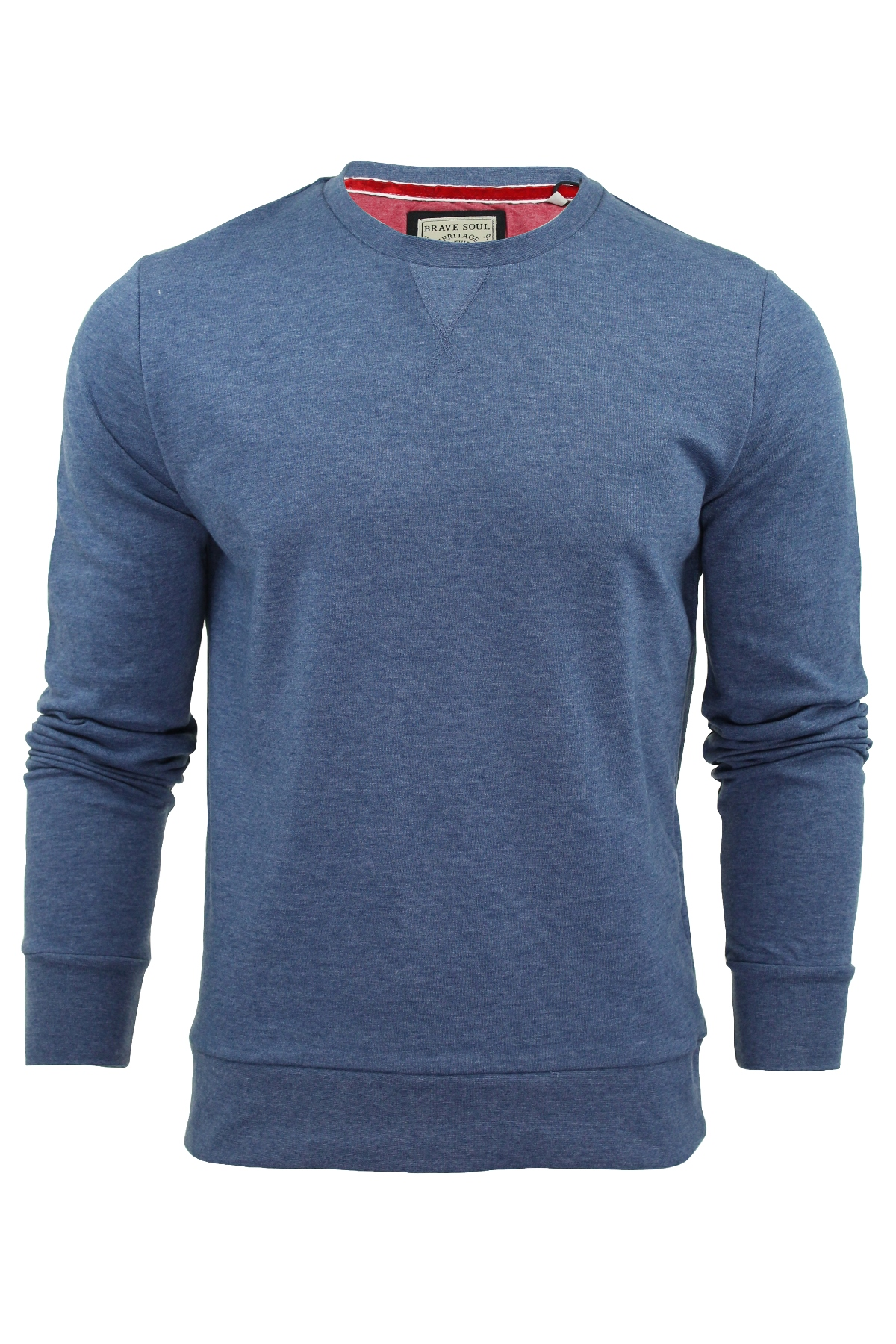 Mens-Sweater-Jumper-Brave-Soul-039-Jones-039-Crew-Neck