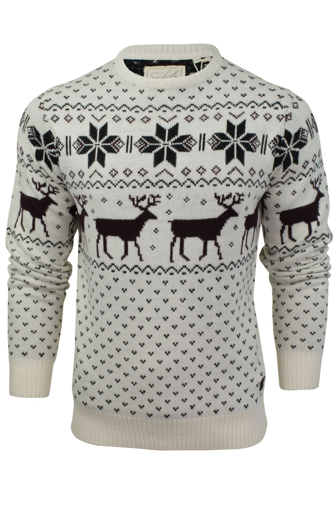 Knitting Patterns Mens Xmas Jumpers : Mens Christmas Jumper by Soul Star eBay