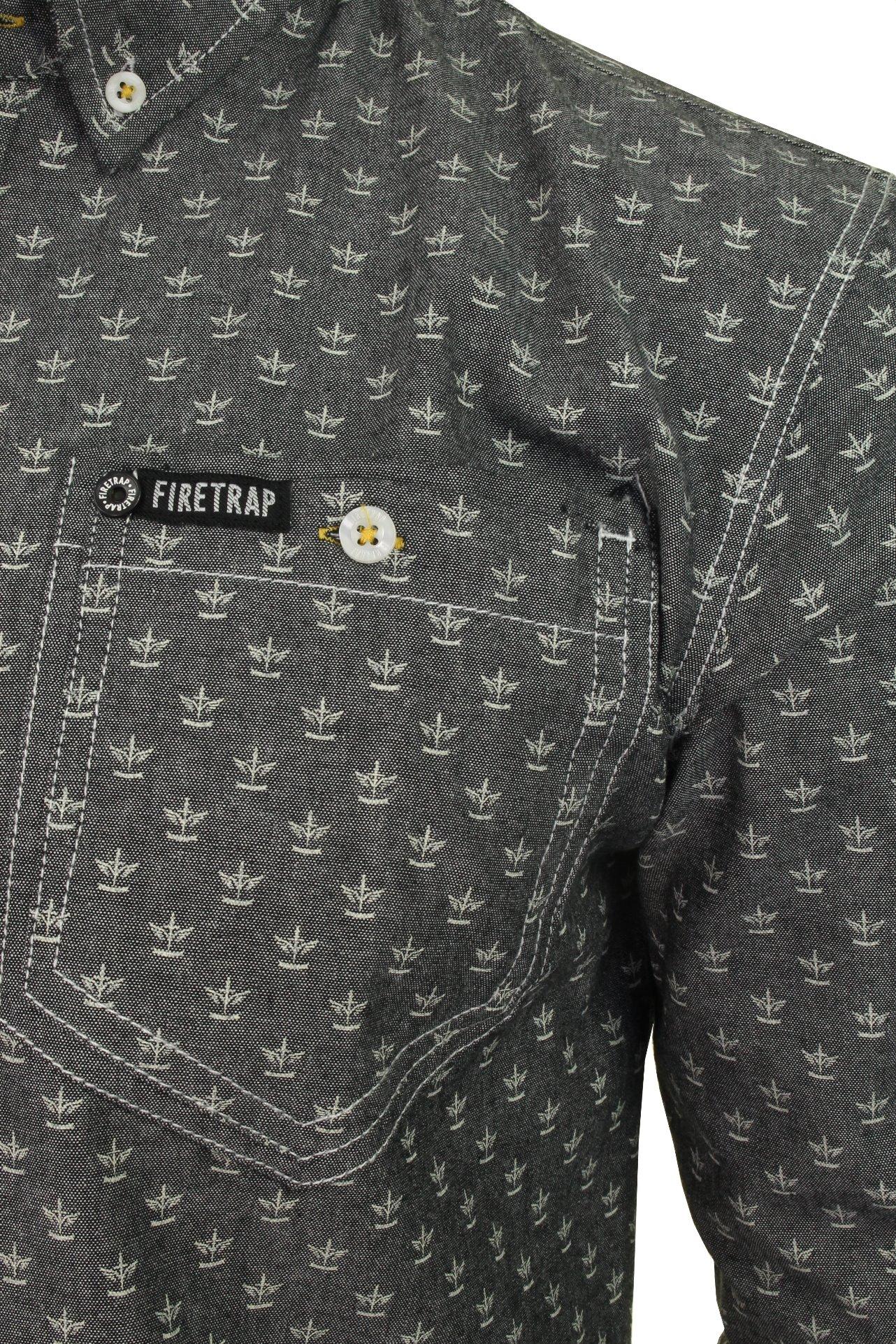 Para-Hombres-Camisa-De-Mezclilla-por-Firetrap-Western-Lavado-Vintage-Manga-Larga miniatura 6