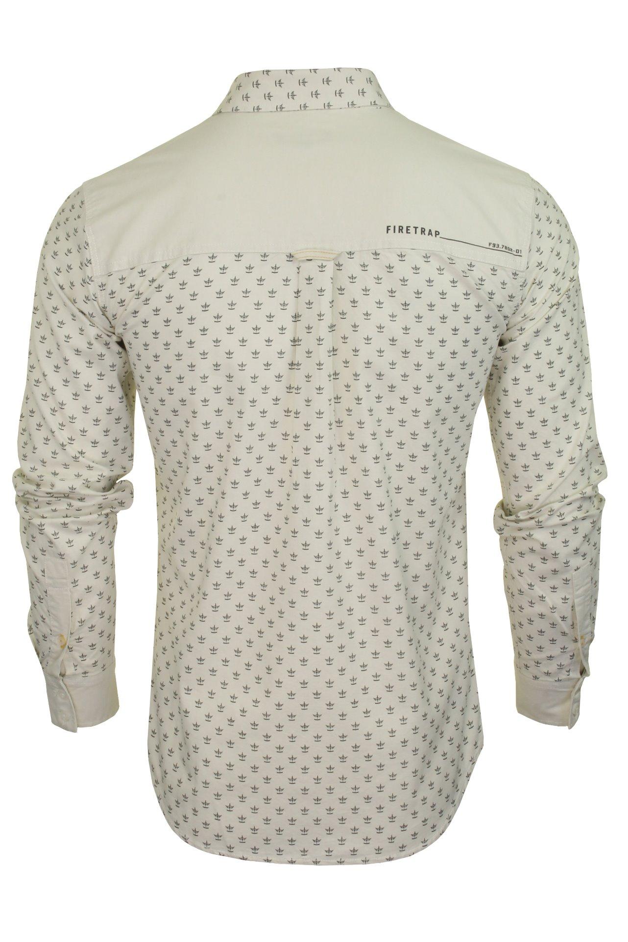 Para-Hombres-Camisa-De-Mezclilla-por-Firetrap-Western-Lavado-Vintage-Manga-Larga miniatura 10