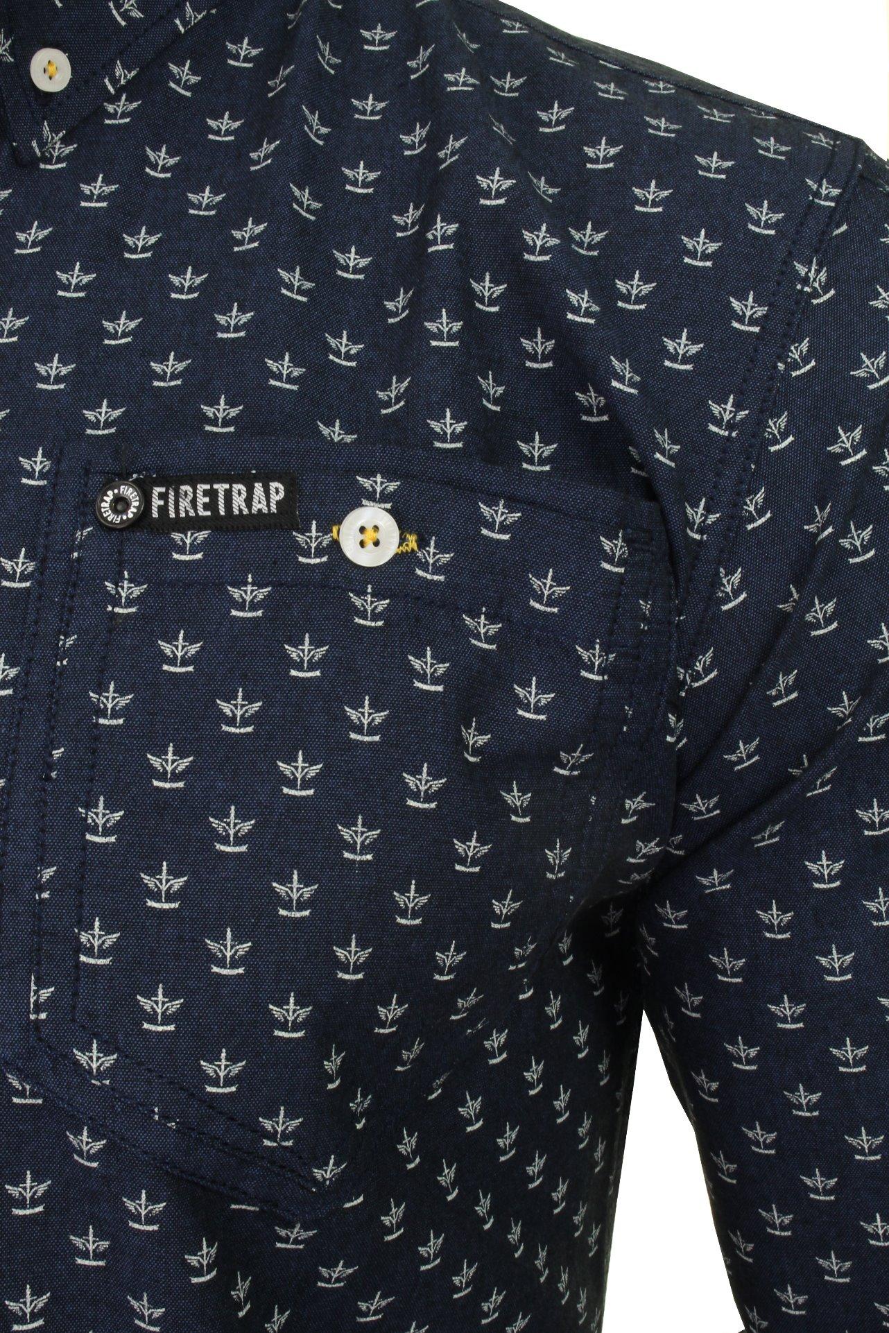 Para-Hombres-Camisa-De-Mezclilla-por-Firetrap-Western-Lavado-Vintage-Manga-Larga miniatura 12