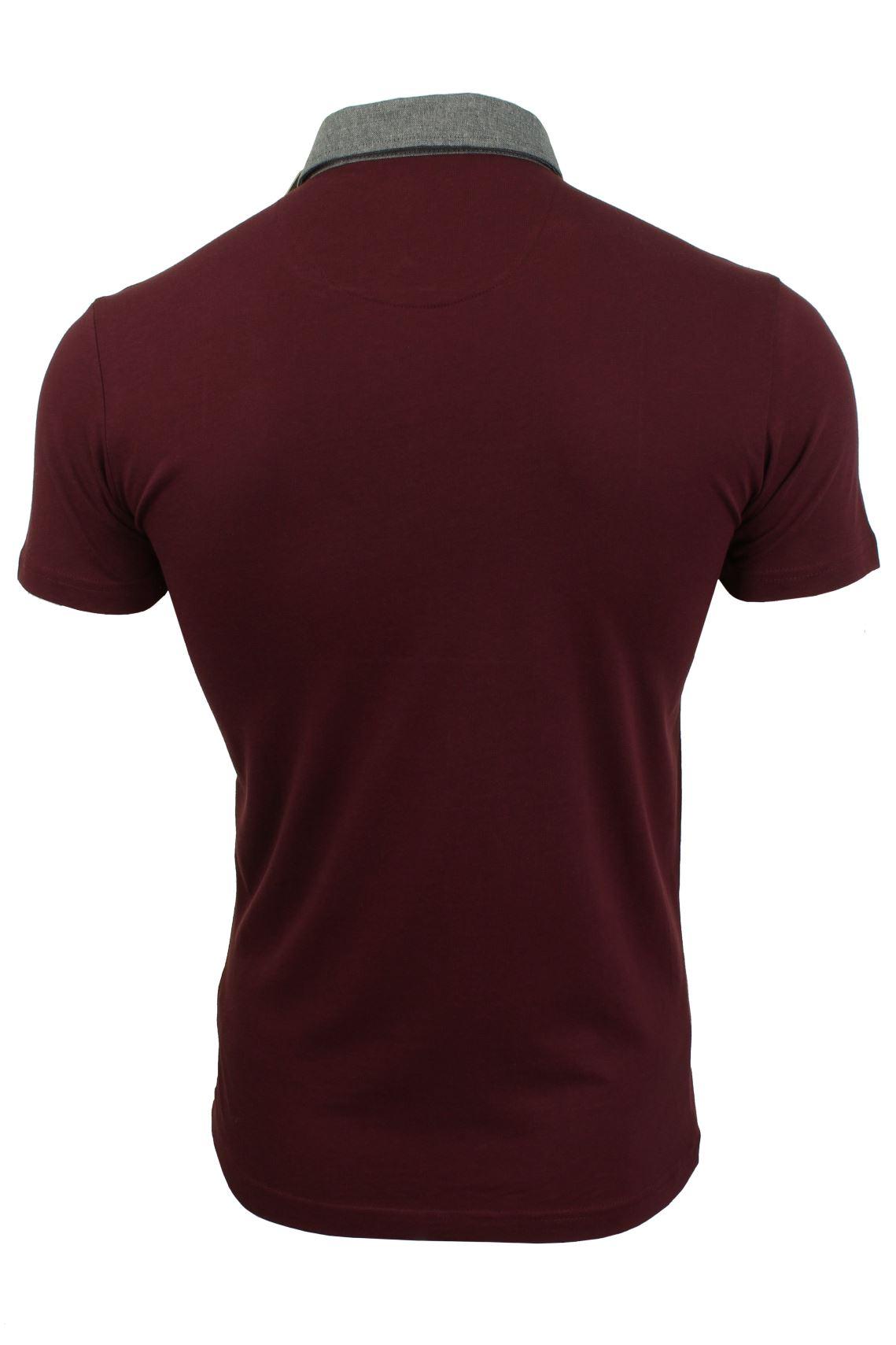 Mens-Polo-T-Shirt-Chimera-Brave-Soul-Denim-Chambray-Collar-Short-Sleeved-Cotton thumbnail 10