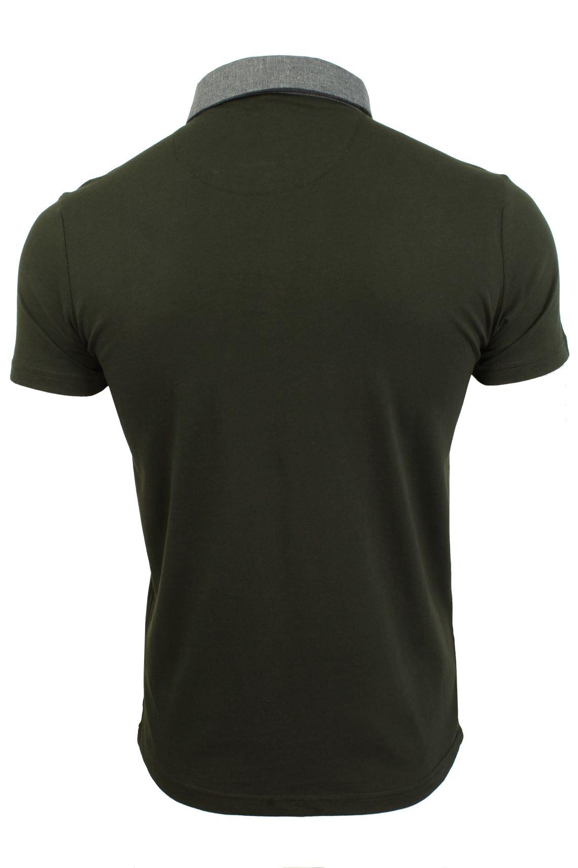 Mens-Polo-T-Shirt-Chimera-Brave-Soul-Denim-Chambray-Collar-Short-Sleeved-Cotton thumbnail 15