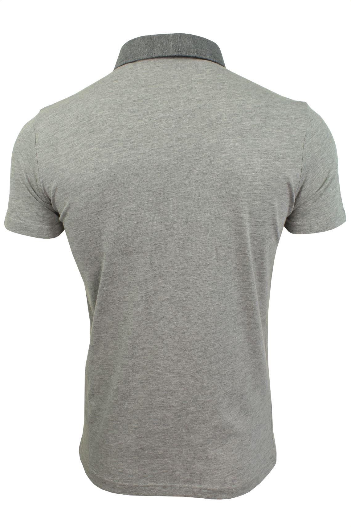 Mens-Polo-T-Shirt-Chimera-Brave-Soul-Denim-Chambray-Collar-Short-Sleeved-Cotton thumbnail 21