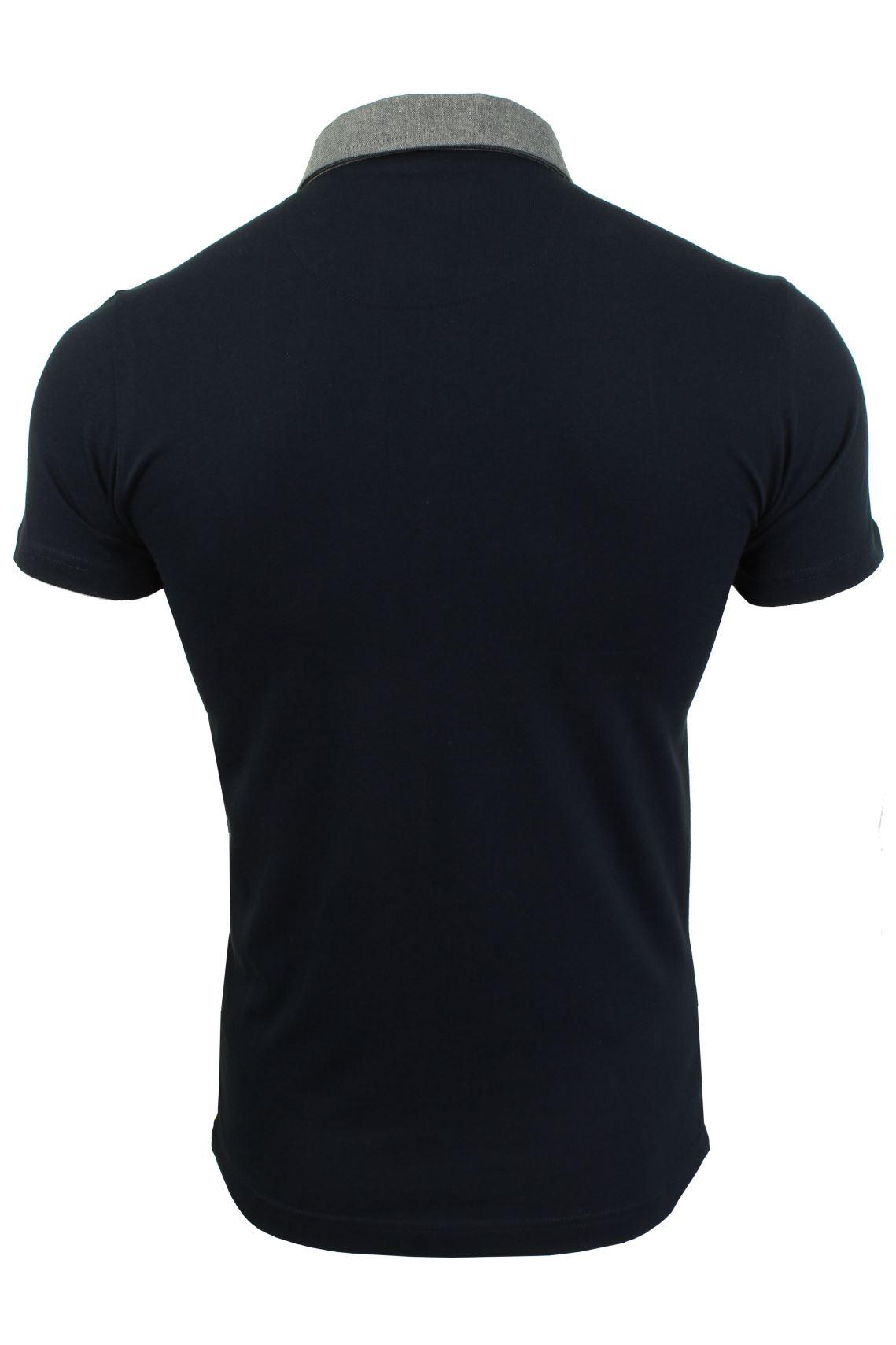 Mens-Polo-T-Shirt-Chimera-Brave-Soul-Denim-Chambray-Collar-Short-Sleeved-Cotton thumbnail 26