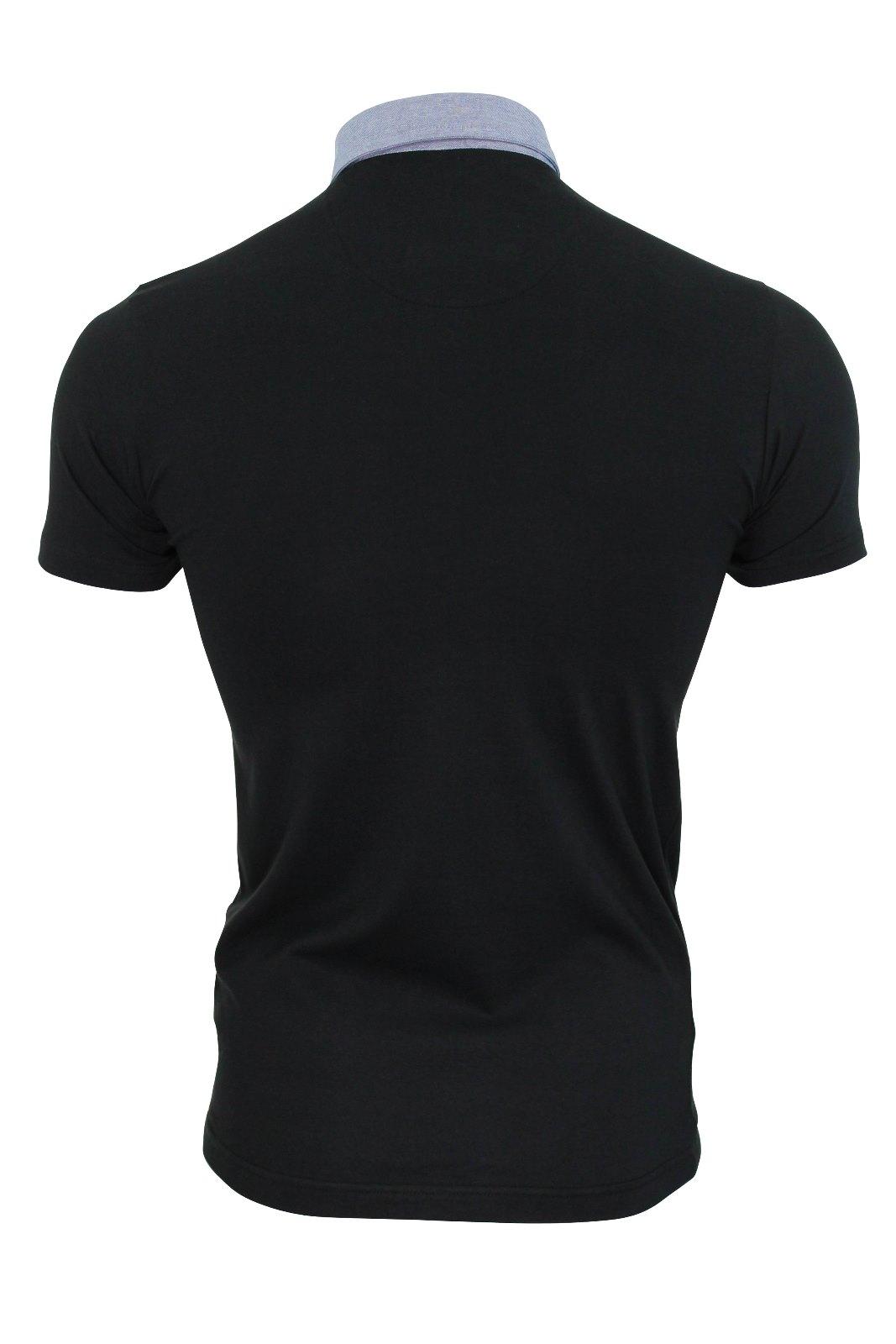 Mens-Polo-T-Shirt-Chimera-Brave-Soul-Denim-Chambray-Collar-Short-Sleeved-Cotton thumbnail 7