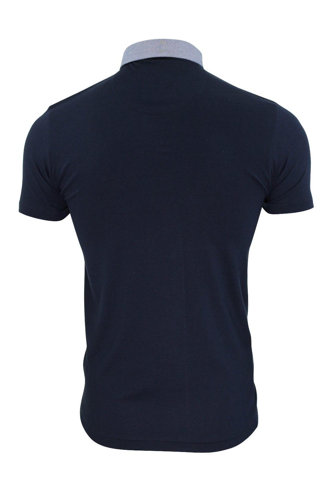 Mens-Polo-T-Shirt-Chimera-Brave-Soul-Denim-Chambray-Collar-Short-Sleeved-Cotton thumbnail 23