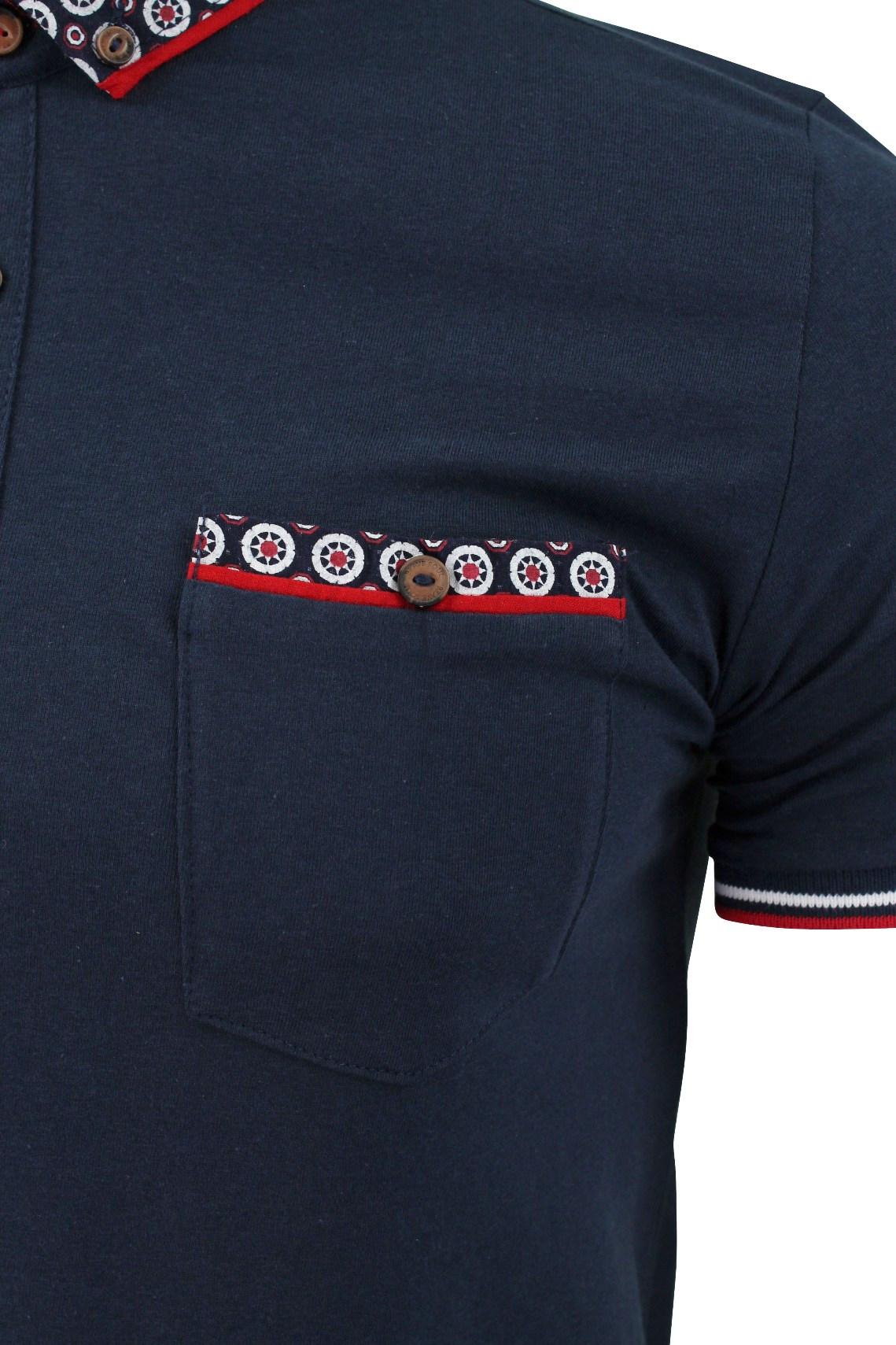 Mens-Polo-T-Shirt-Chimera-Brave-Soul-Denim-Chambray-Collar-Short-Sleeved-Cotton thumbnail 42